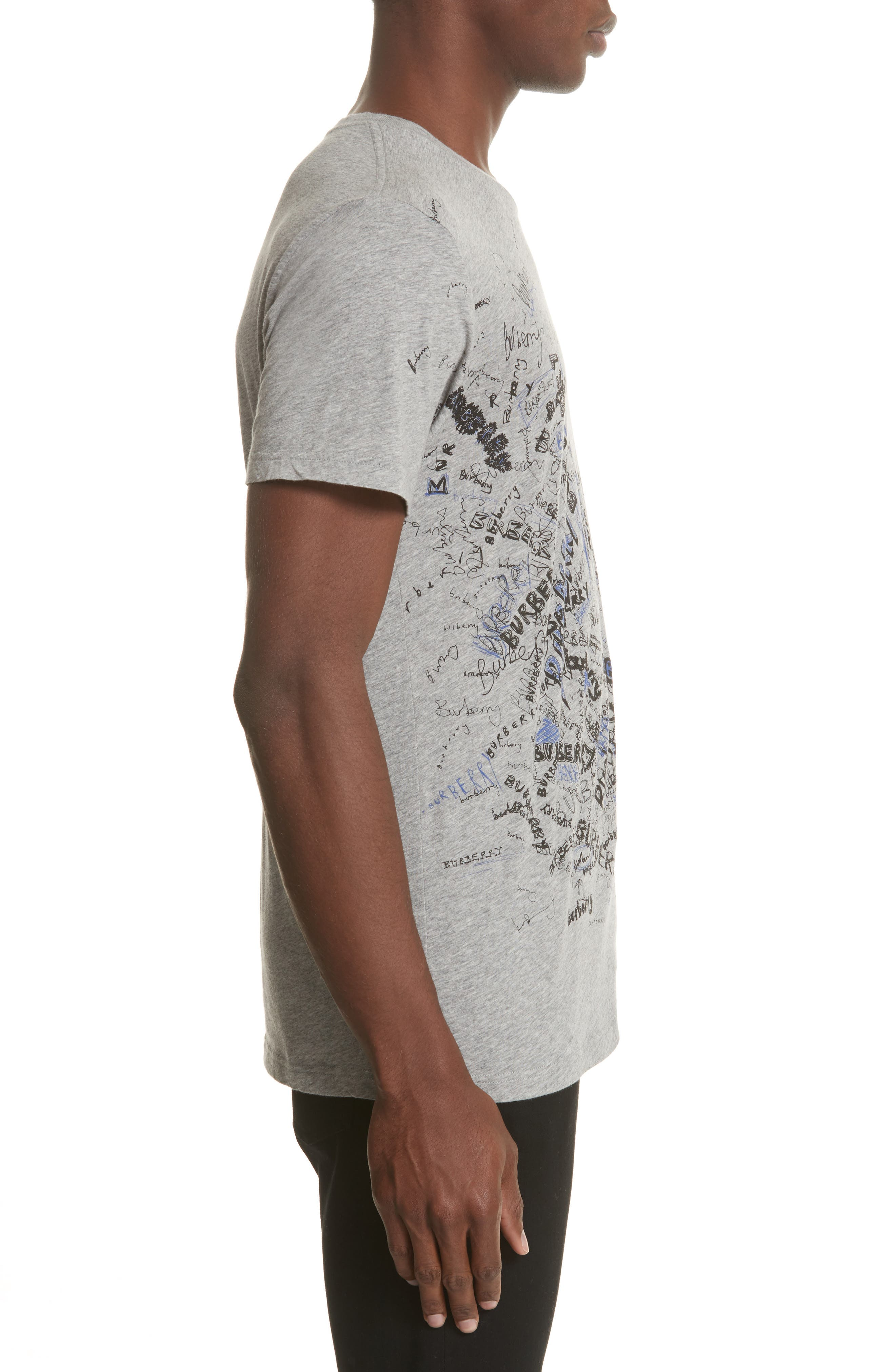 Becklow Standard Fit Graphic Tee,                             Alternate thumbnail 3, color,                             Pale Grey Melange