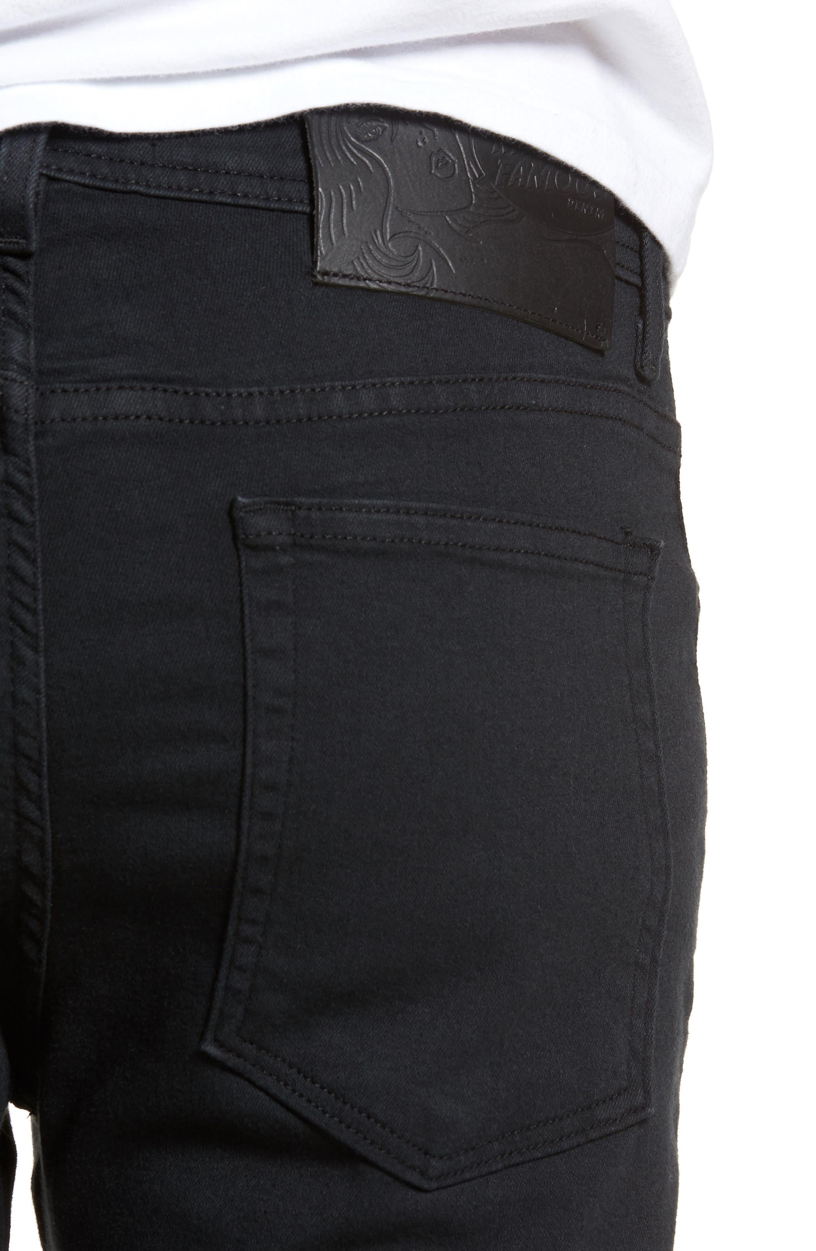 Weird Guy Slim Fit Jeans,                             Alternate thumbnail 4, color,                             Black