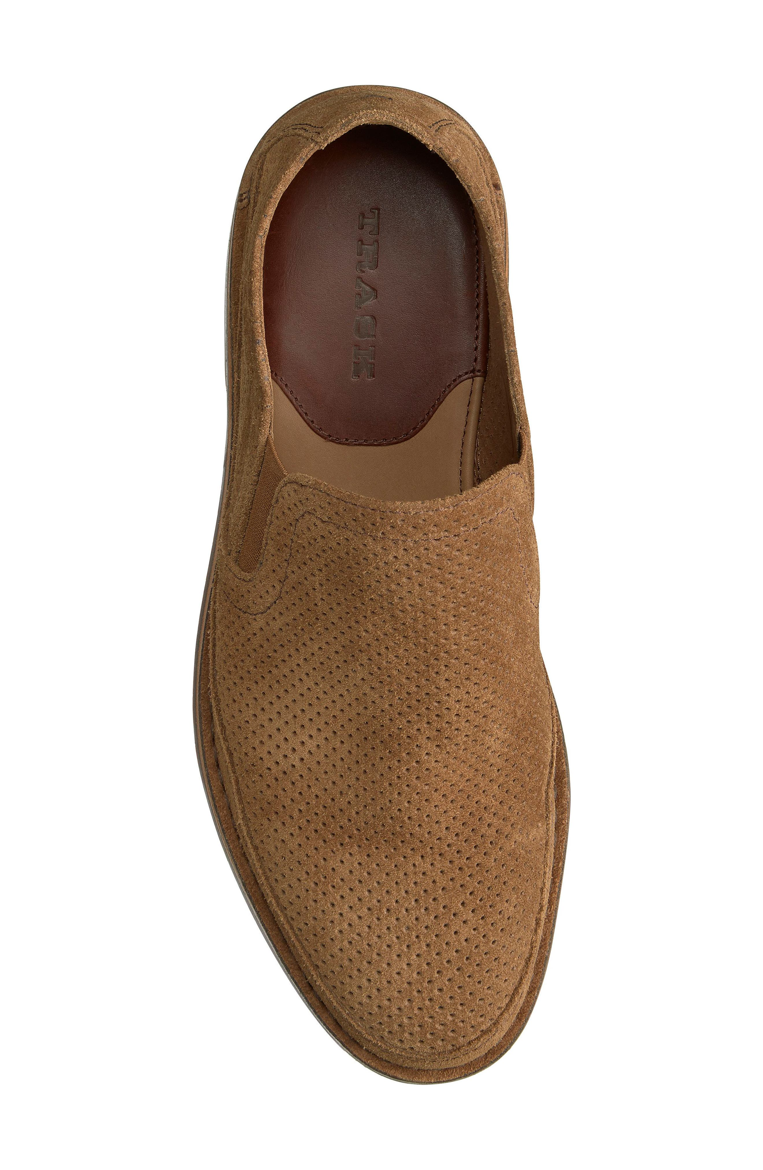Bradley Perforated Slip-On,                             Alternate thumbnail 5, color,                             Brown Suede