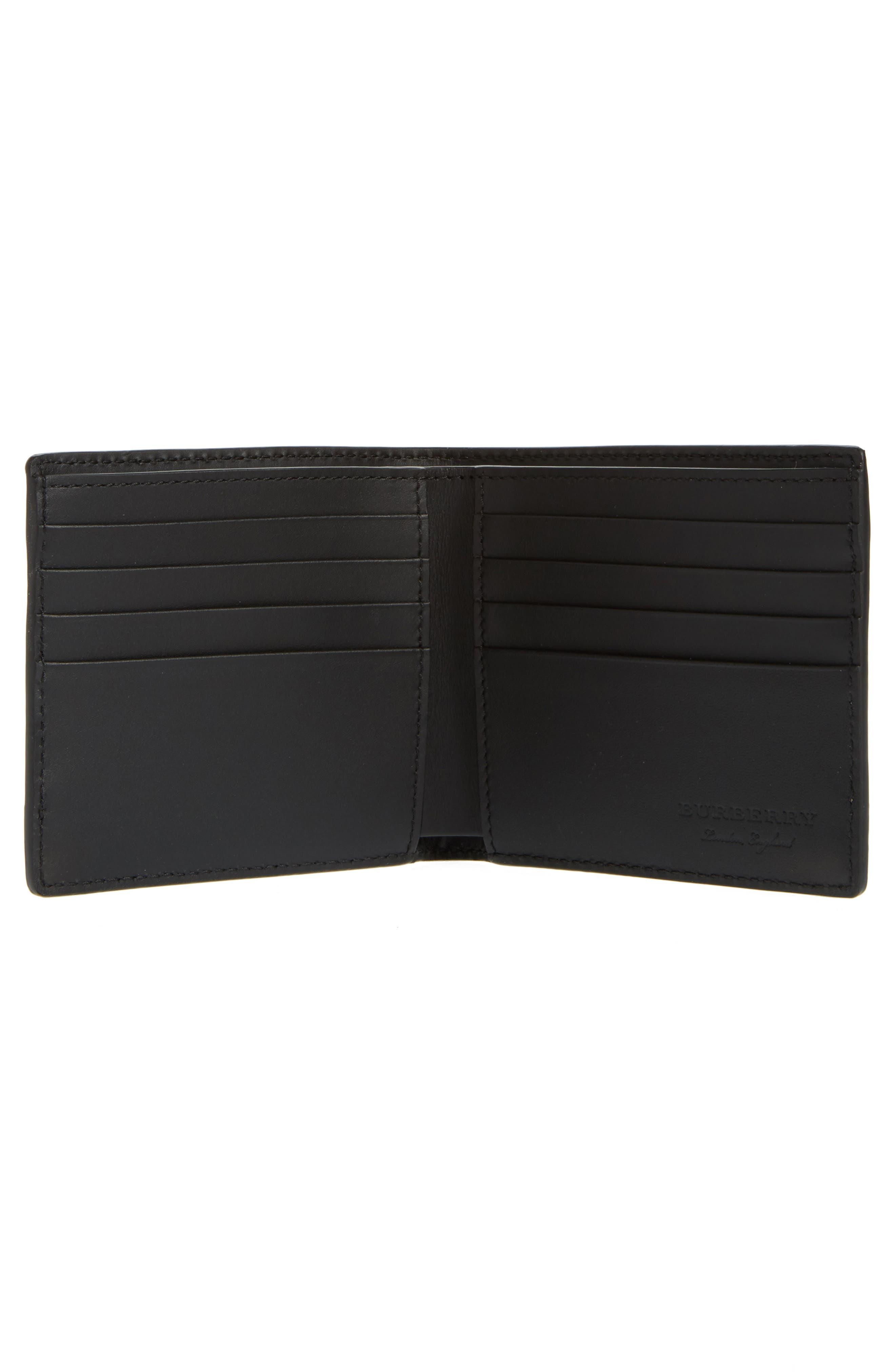 Haymarket Check Wallet,                             Alternate thumbnail 3, color,                             Black
