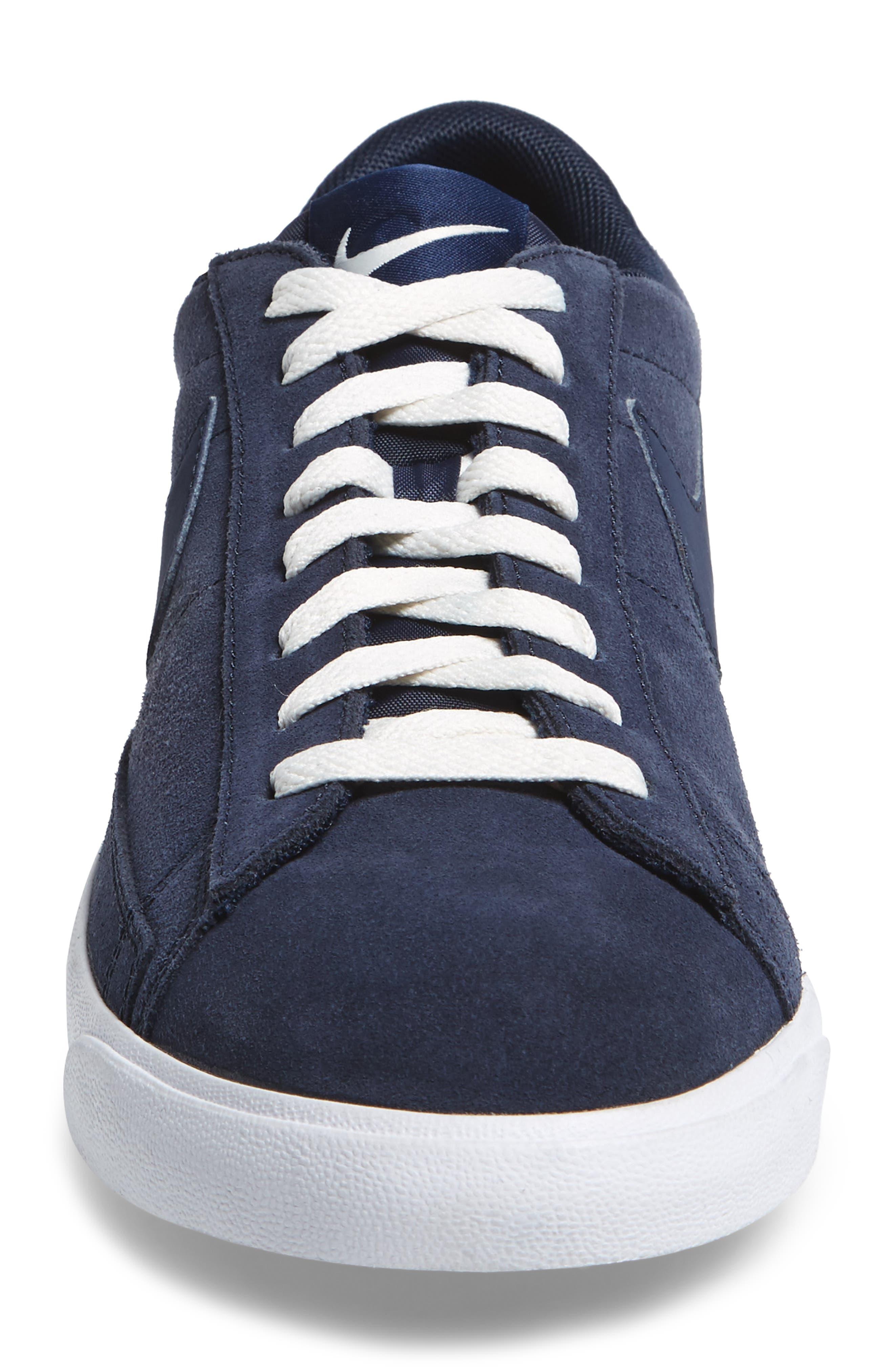 Blazer Low Suede Sneaker,                             Alternate thumbnail 4, color,                             Obsidian/ Sail/ Brown