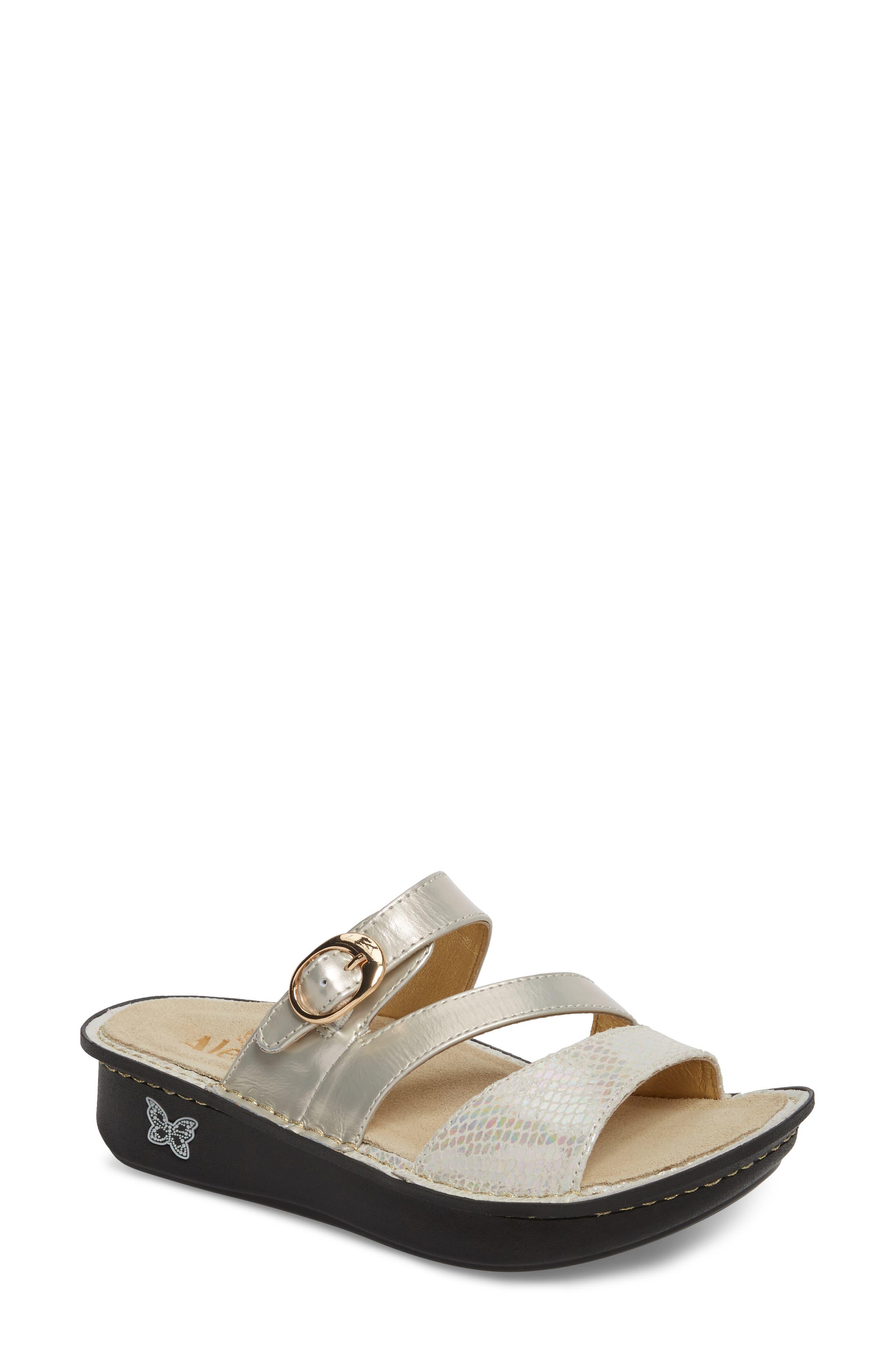 'Colette' Platform Sandal,                         Main,                         color, Opfully Leather