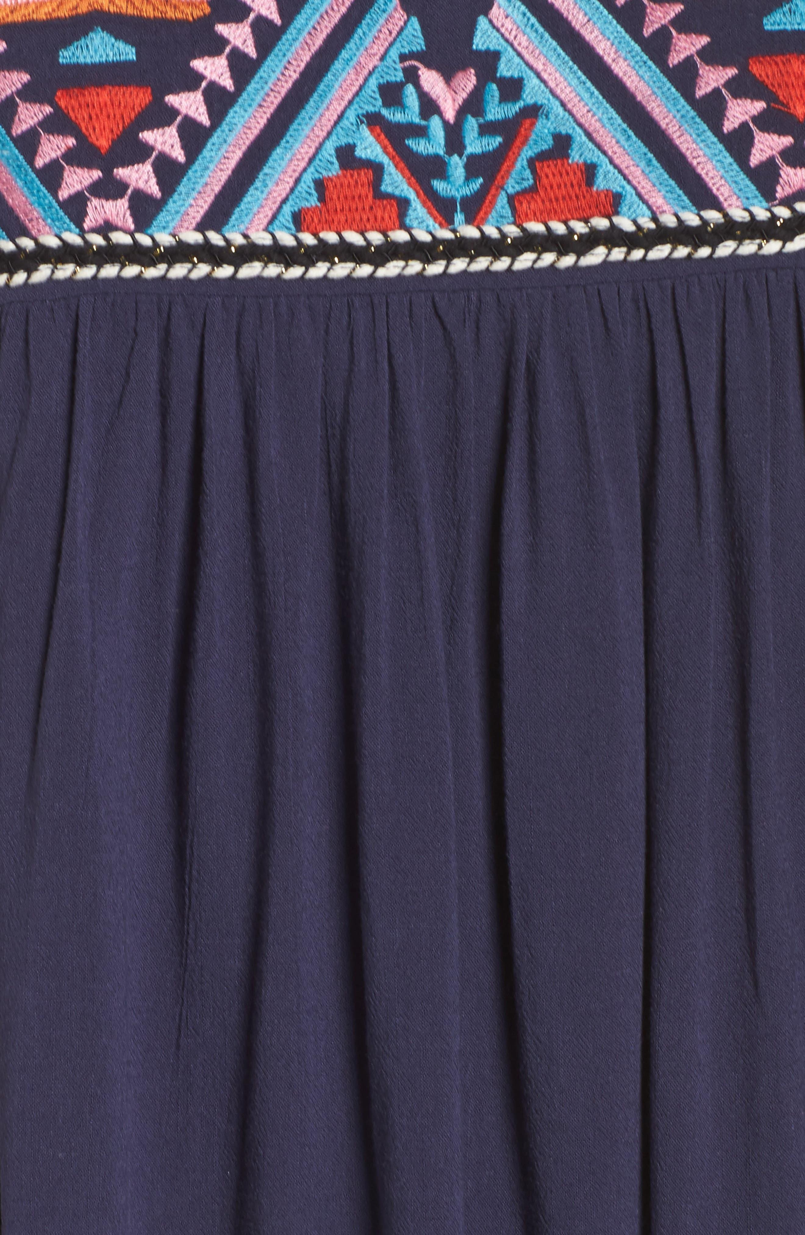Alternate Image 5  - THML Embroidered Empire Waist Dress
