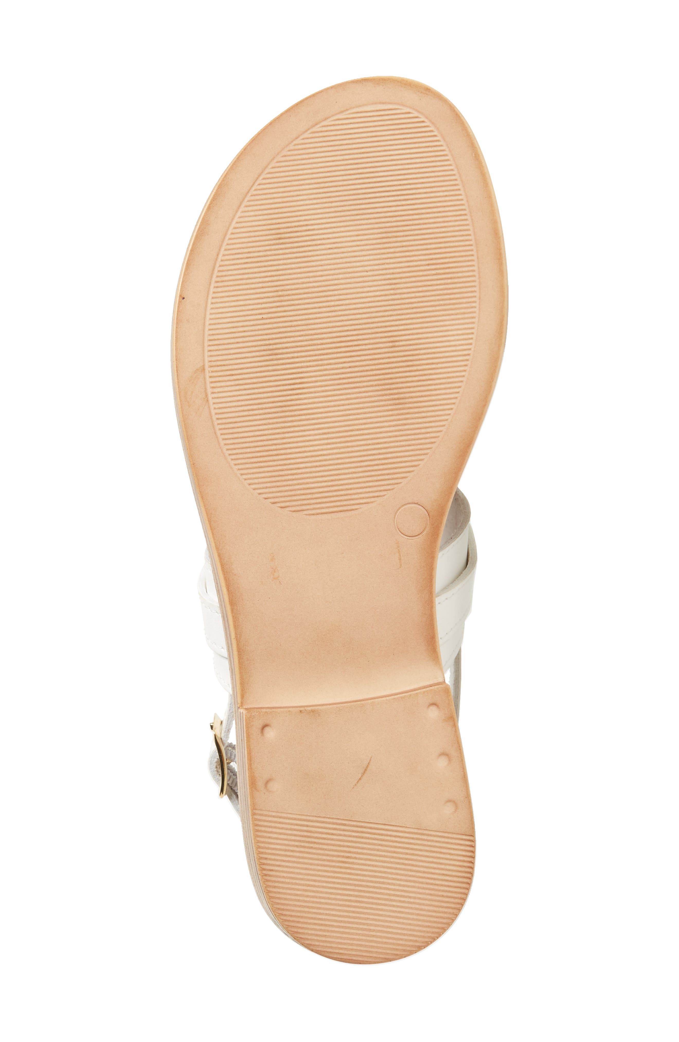 by Easy Street<sup>®</sup> Clariss Sandal,                             Alternate thumbnail 6, color,                             White Faux Leather