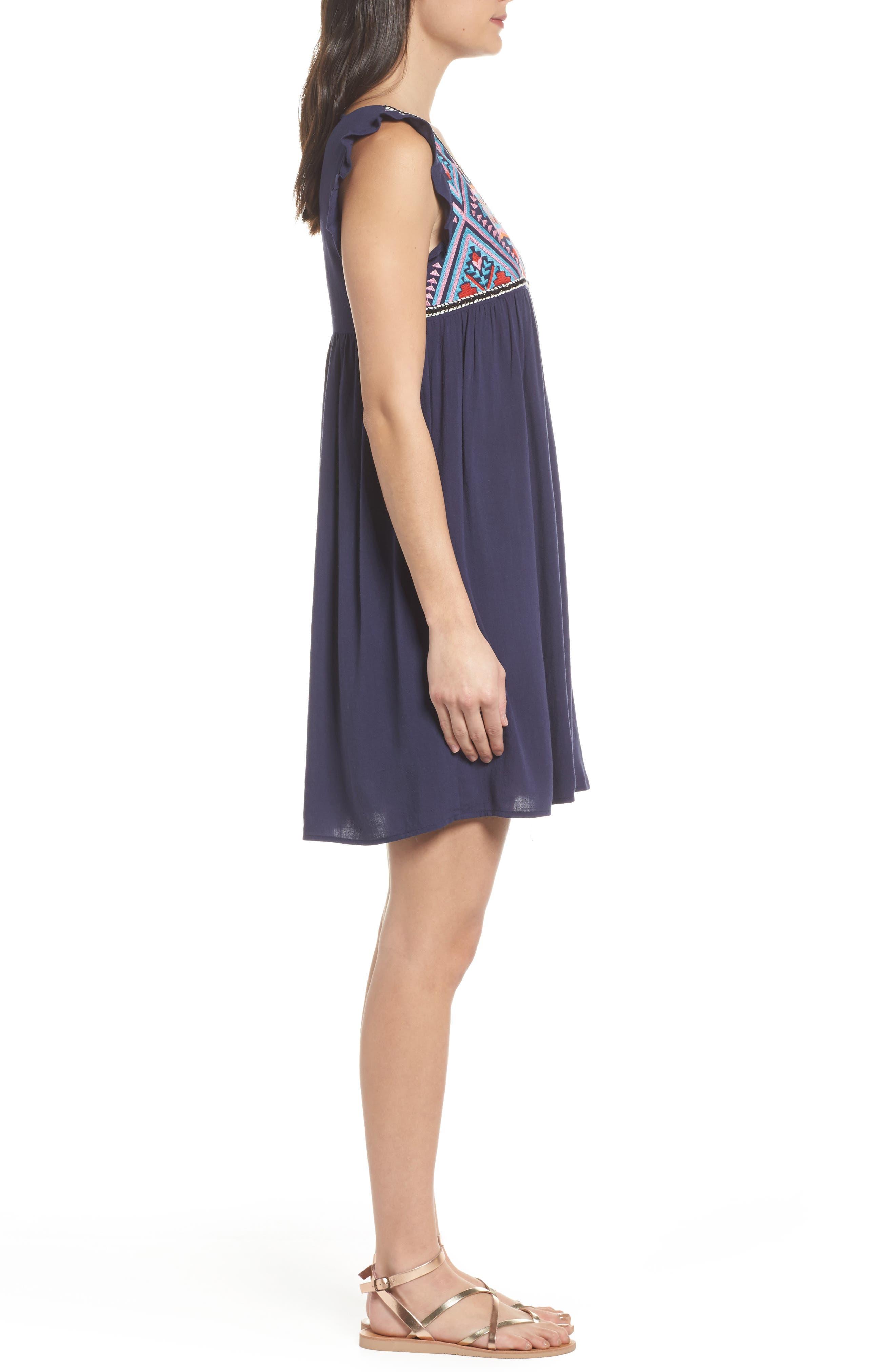 Alternate Image 3  - THML Embroidered Empire Waist Dress
