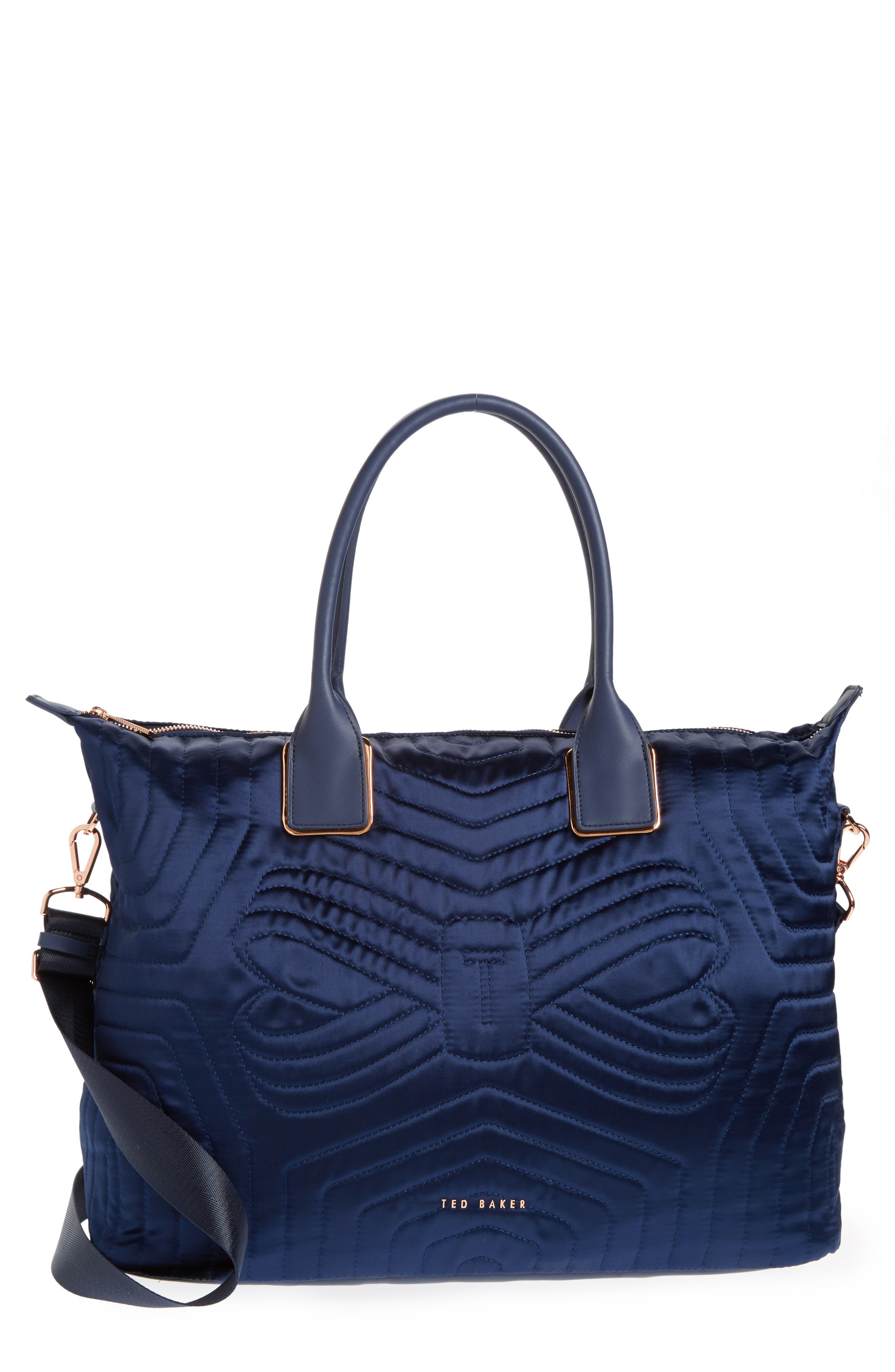 Ted Baker London Quilted Bow Large Nylon Tote