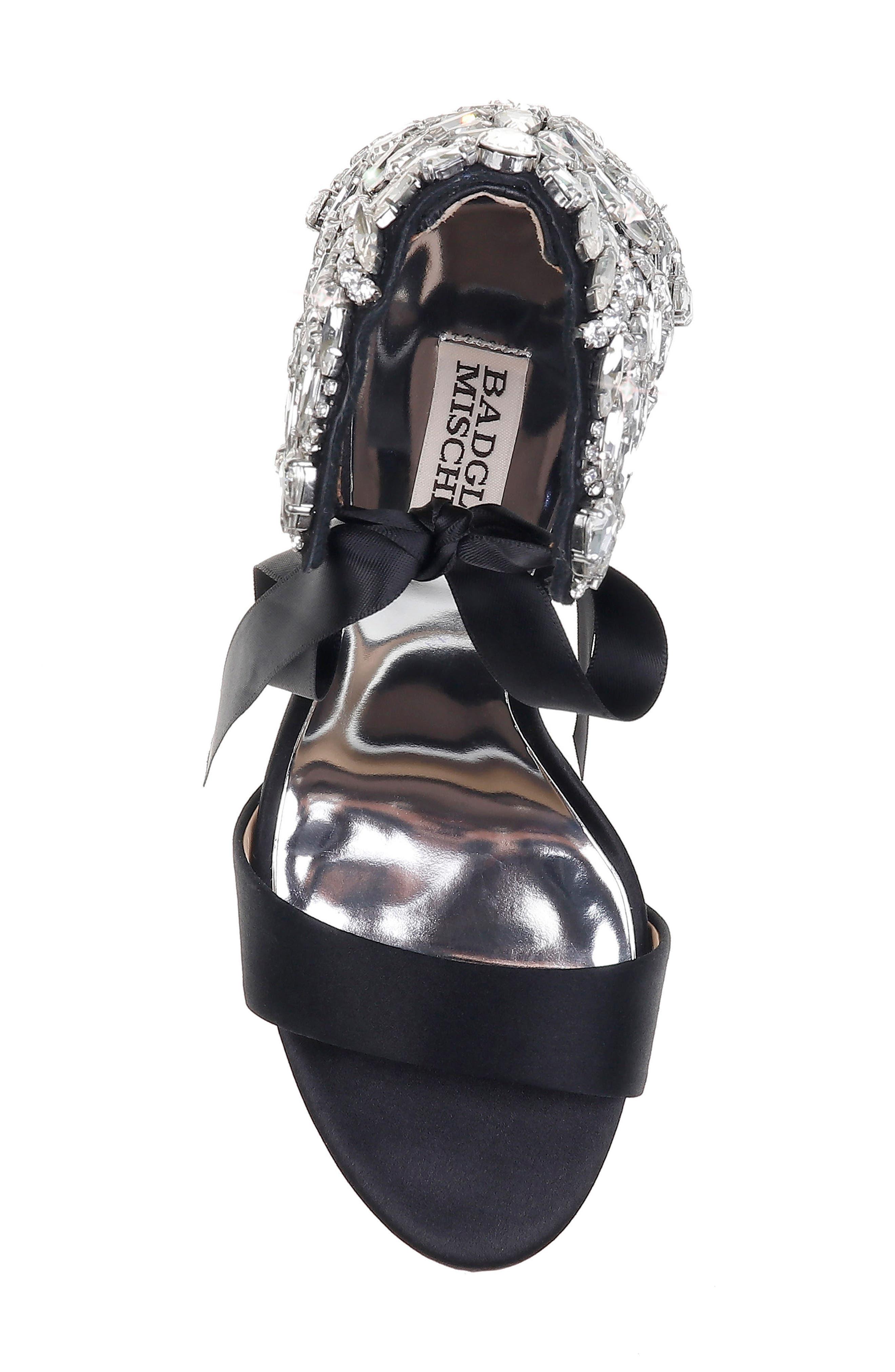 Alternate Image 5  - Badgley Mischka Hilda Crystal Embellished Sandal (Women)