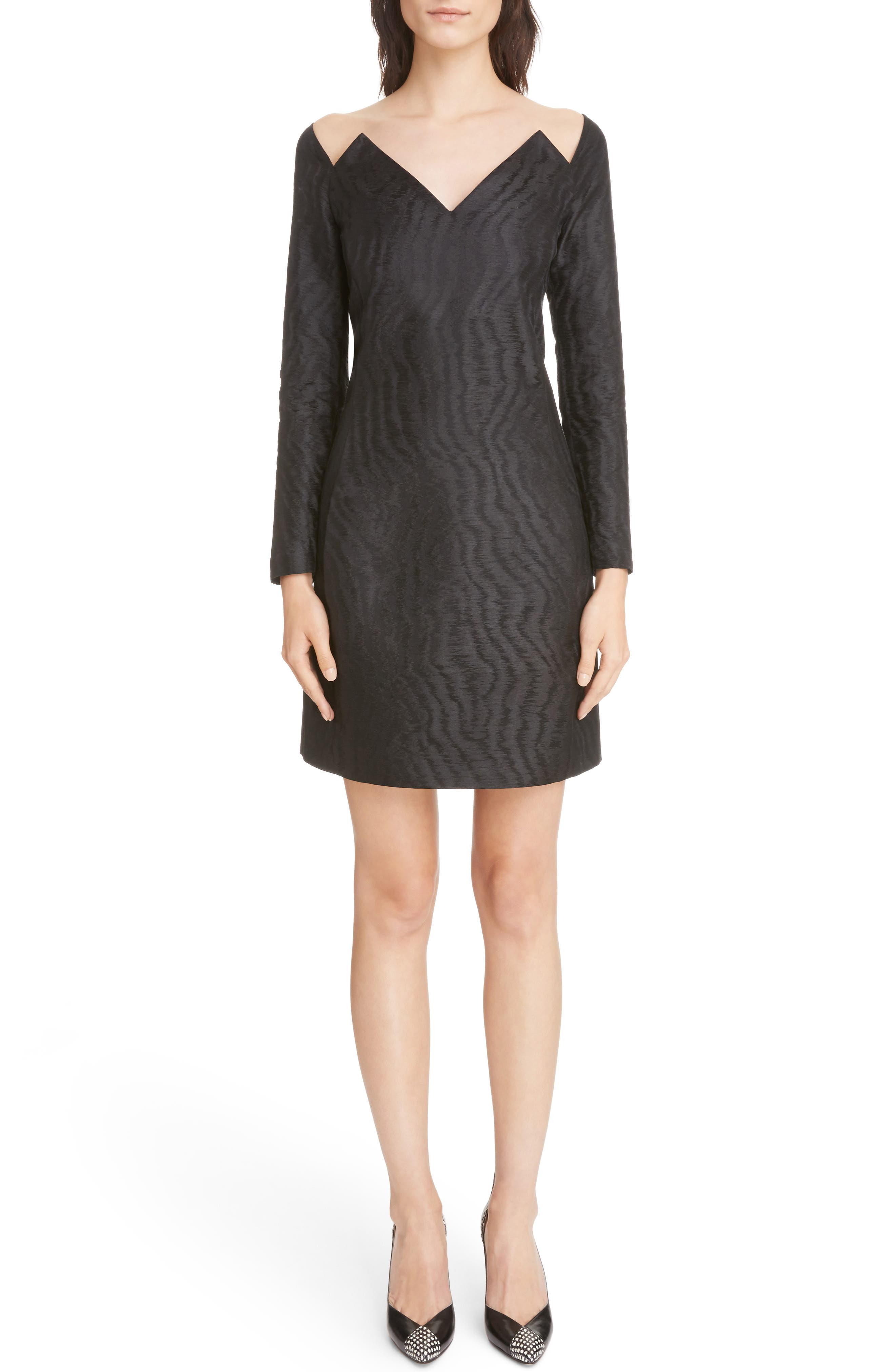 Givenchy Moiré Lightning Neckline Dress