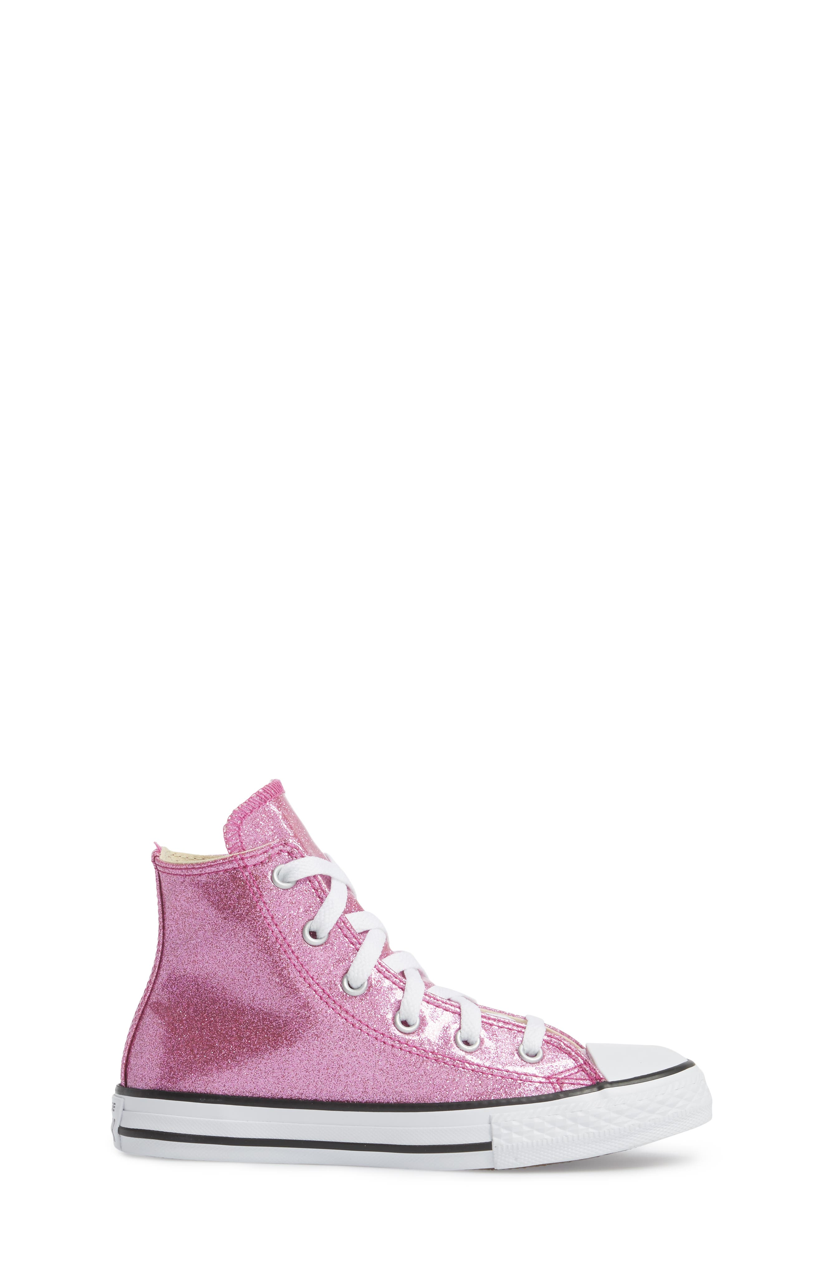 All Star<sup>®</sup> Glitter High Top Sneaker,                             Alternate thumbnail 3, color,                             Bright Violet