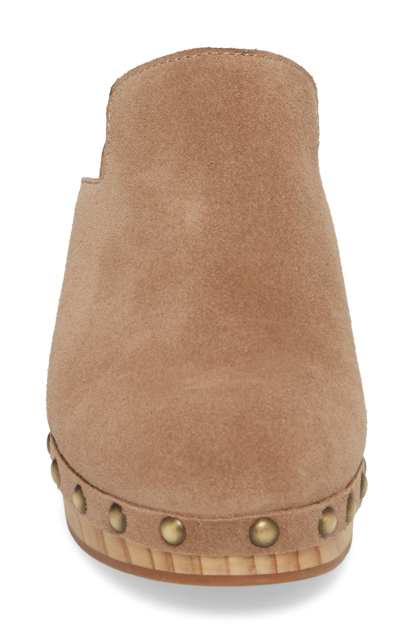 Madelina Clog,                             Alternate thumbnail 4, color,                             Taupe Cow Suede