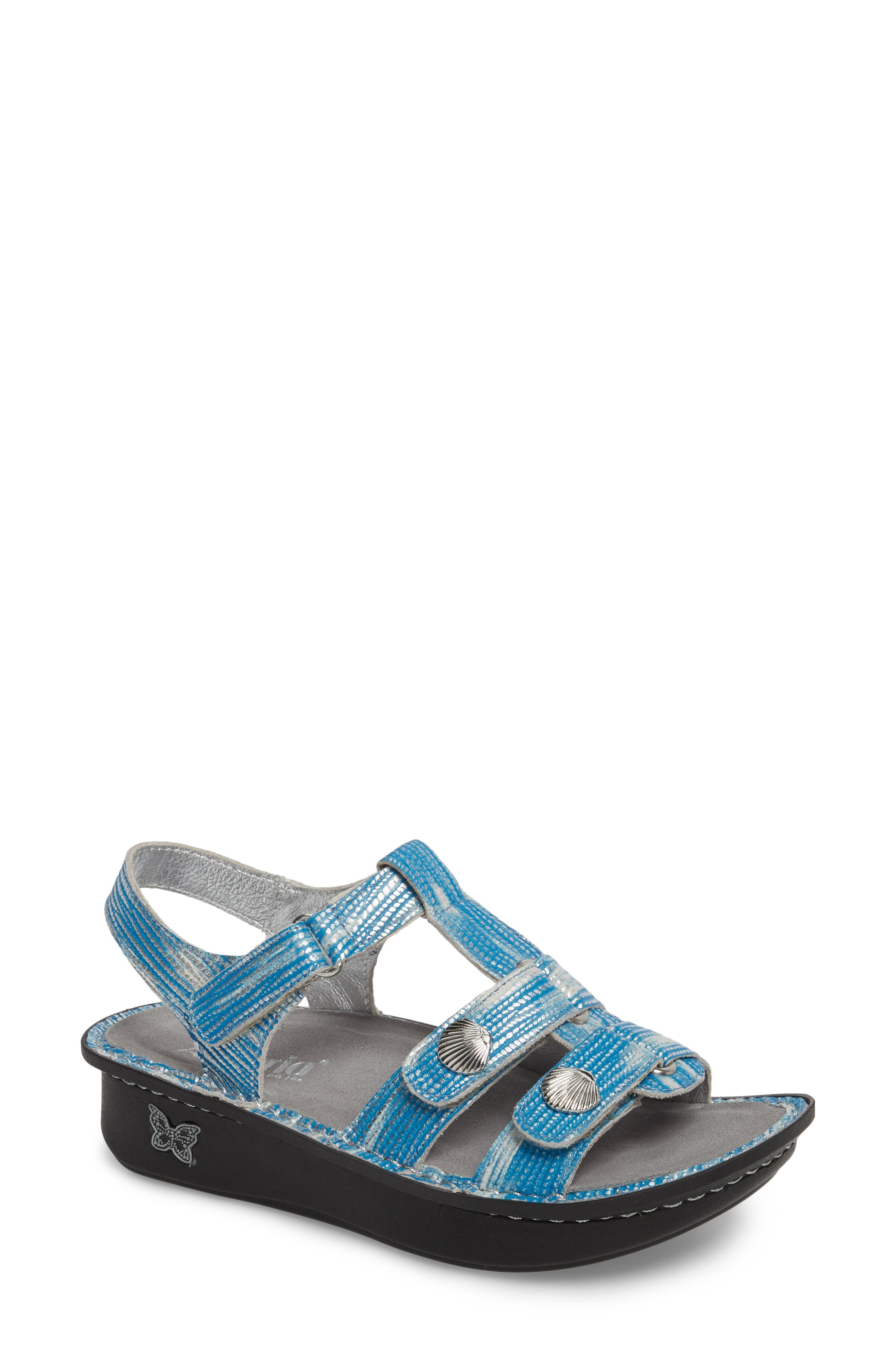 'Kleo' Sandal,                             Main thumbnail 1, color,                             Wrapture Blues Leather