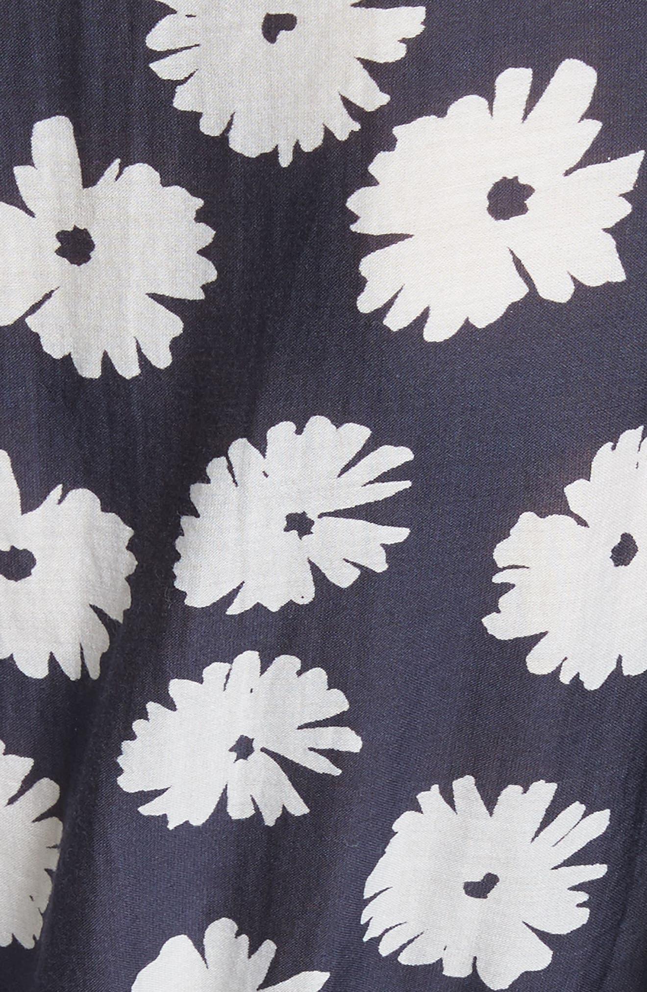 Bougainvillea Wrap Dress,                             Alternate thumbnail 5, color,                             Cypress Print