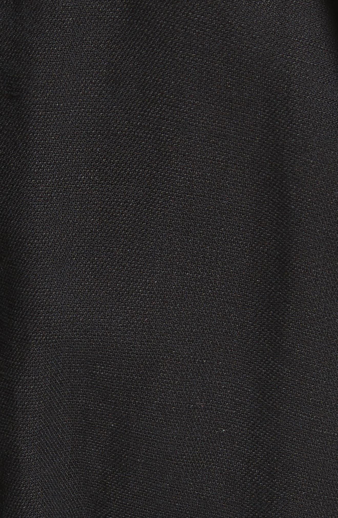 Meru Wrap Front Jumpsuit,                             Alternate thumbnail 5, color,                             Black