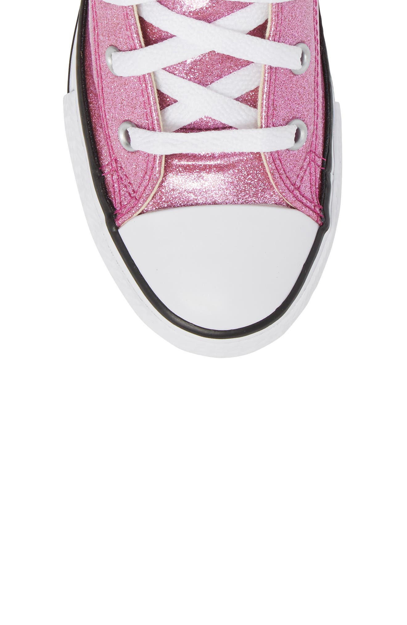 All Star<sup>®</sup> Glitter High Top Sneaker,                             Alternate thumbnail 5, color,                             Bright Violet