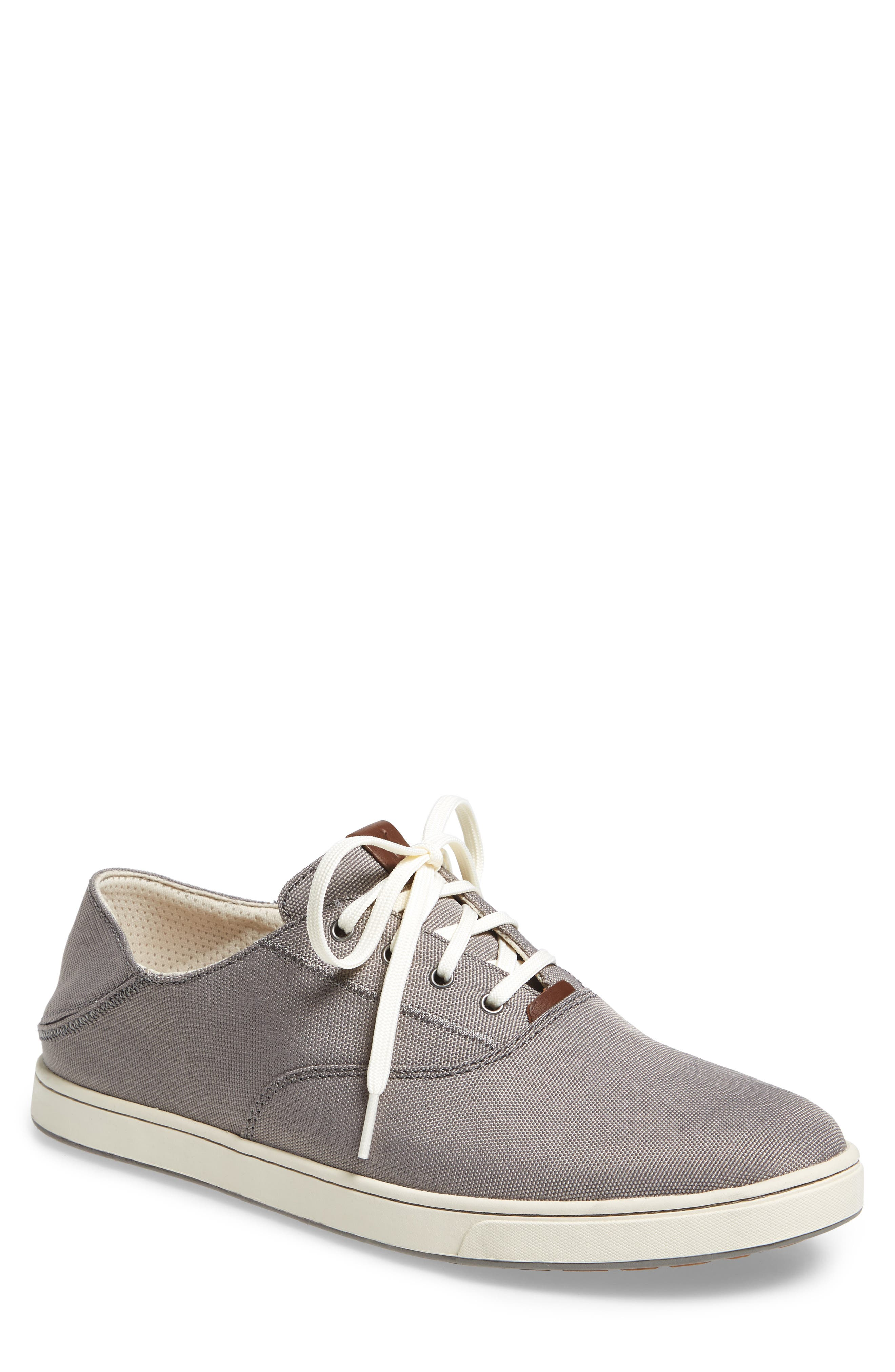 Kahu Collapsible Lace-Up Sneaker,                             Alternate thumbnail 4, color,                             Fog/ Off White
