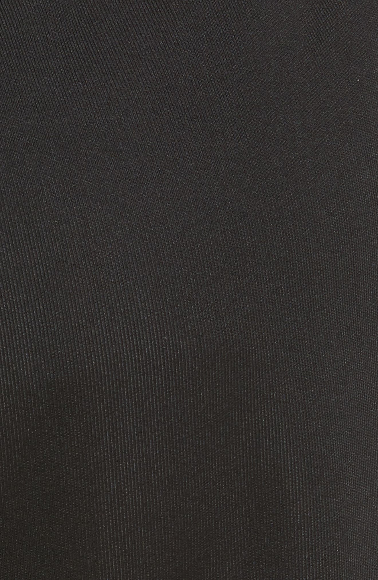 être cécile Rib Crop Track Pants,                             Alternate thumbnail 5, color,                             Black