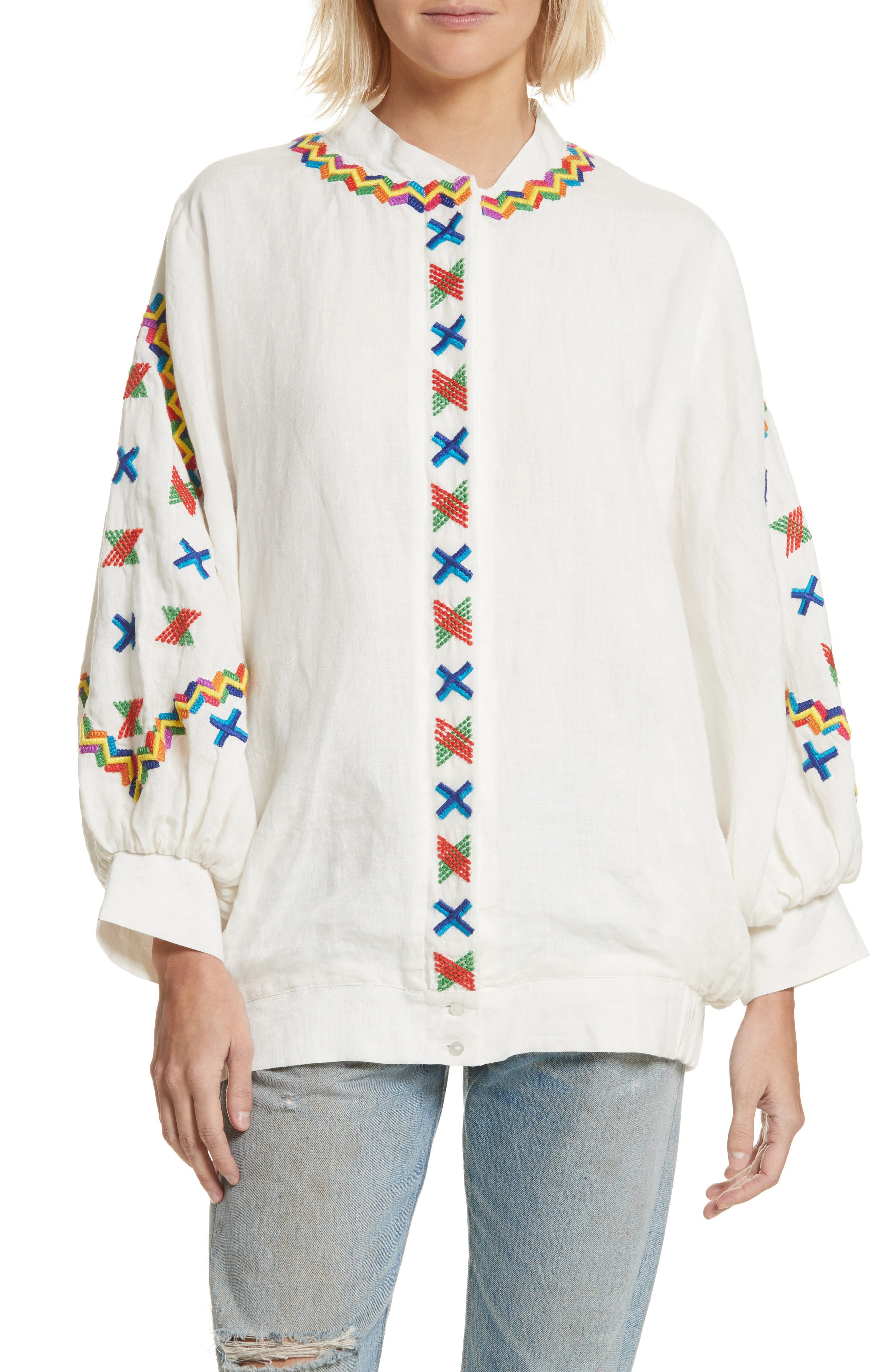 ALL THINGS MOCHI JENNIFER EMBROIDERED JACKET