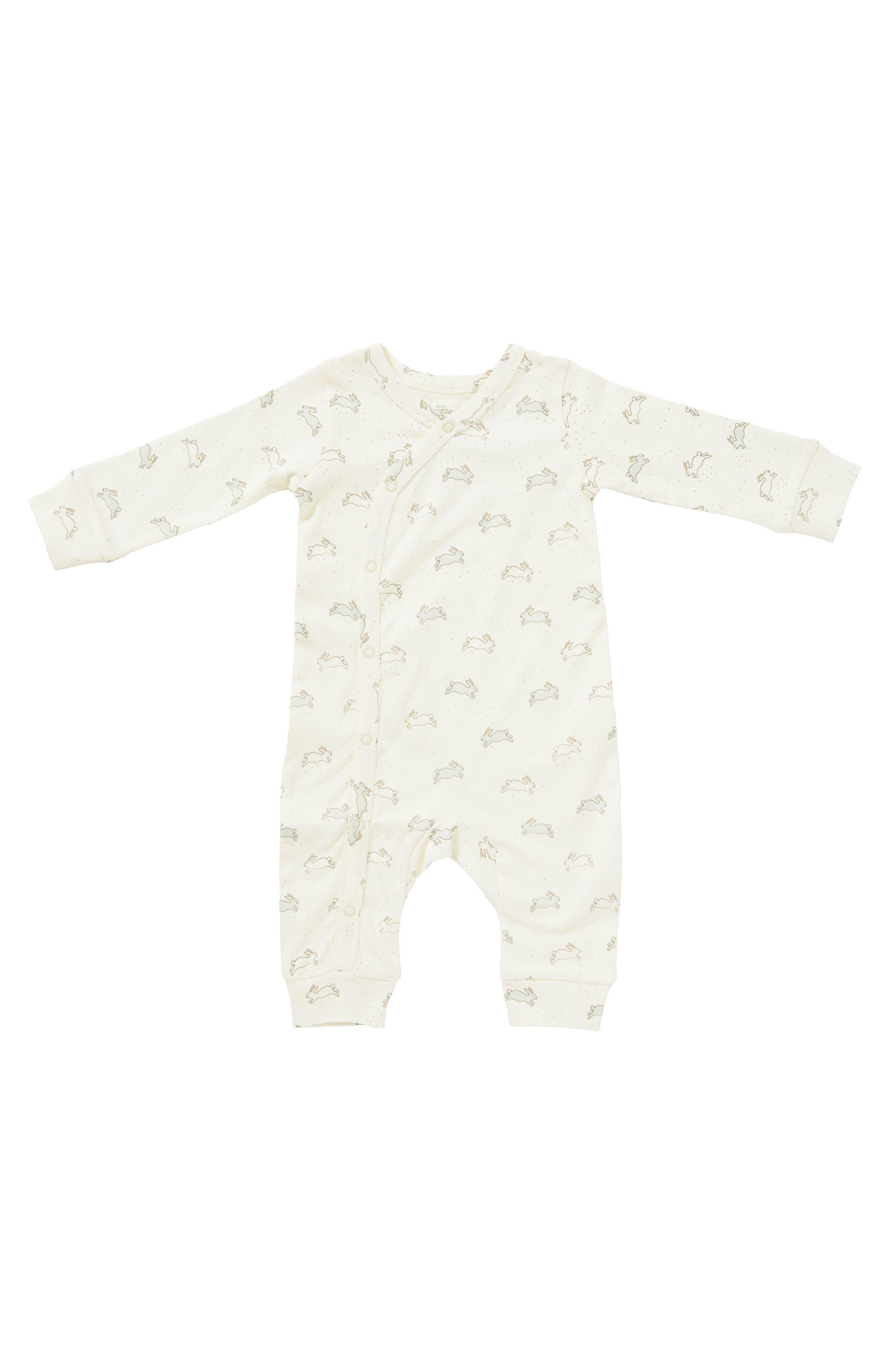 Main Image - Petit Pehr Tiny Bunny Romper (Baby)