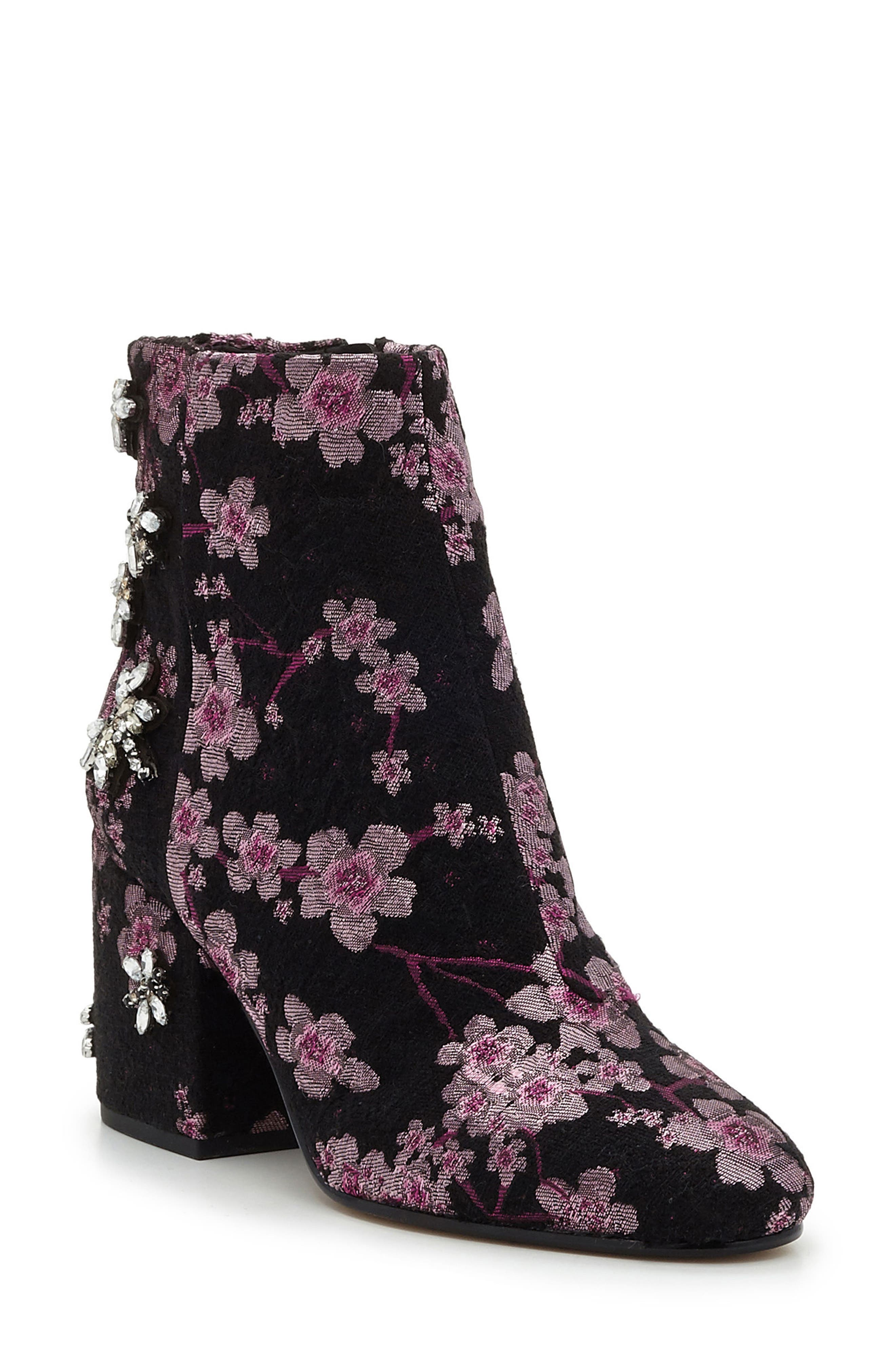 'Taye' Bootie,                             Main thumbnail 1, color,                             Pink Multi Brocade