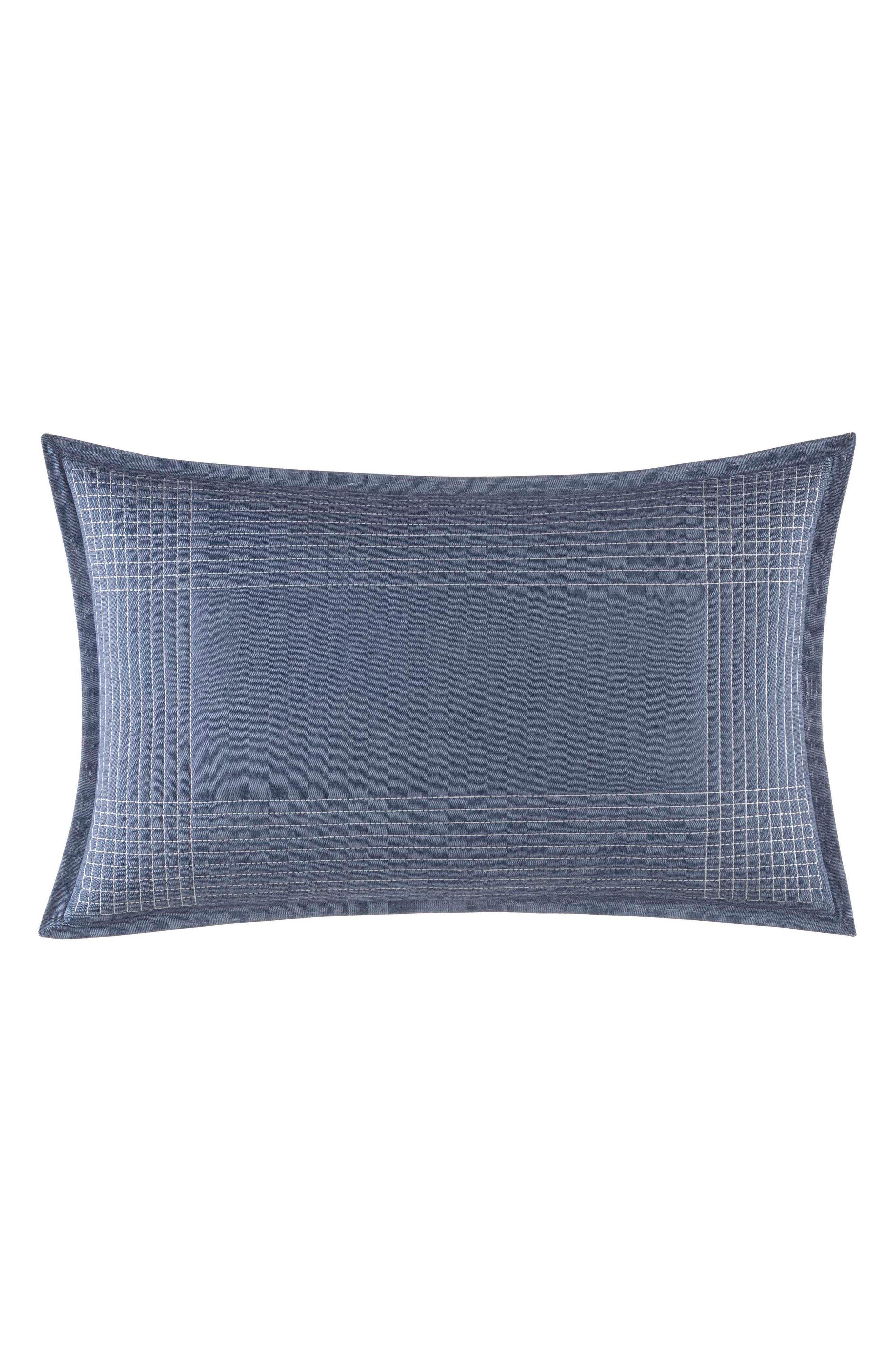 Norwich Stitched Accent Pillow,                         Main,                         color, Medium Blue