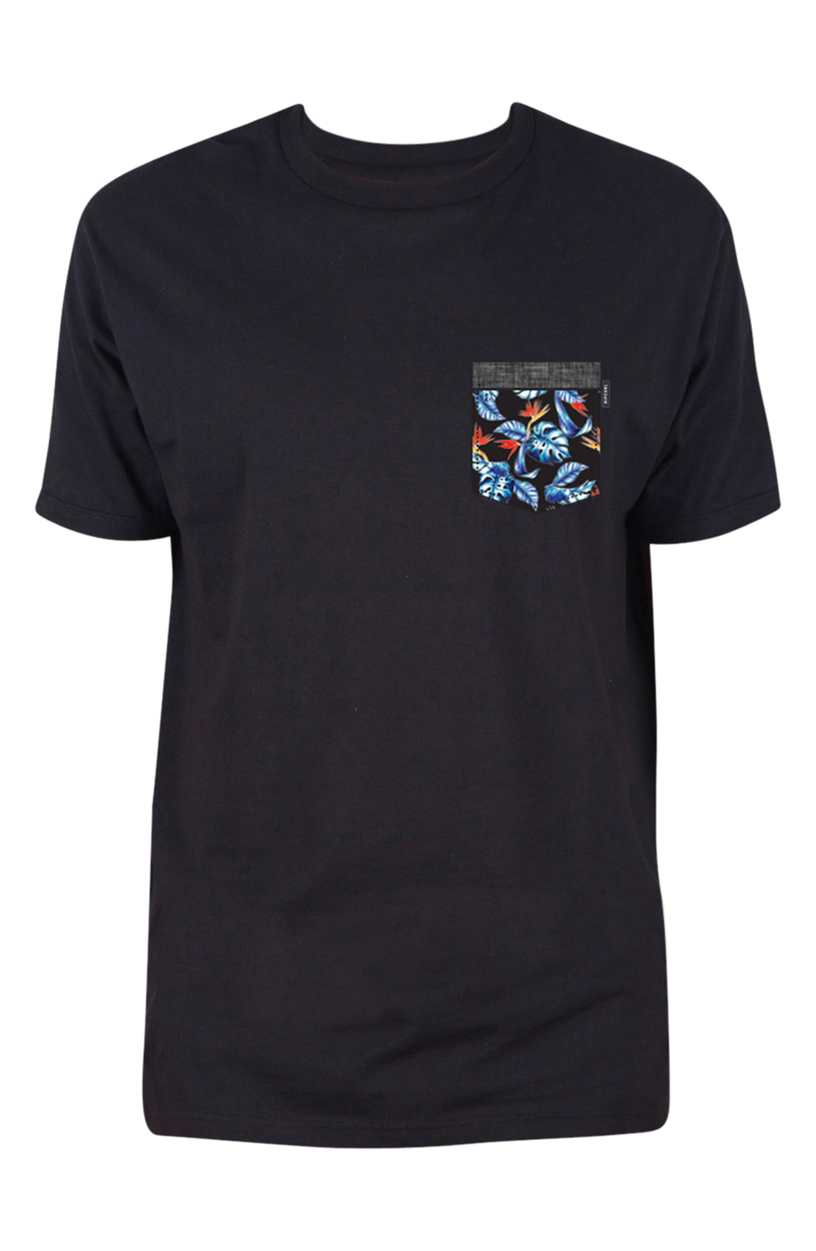 Mack Pocket T-Shirt,                         Main,                         color, Black