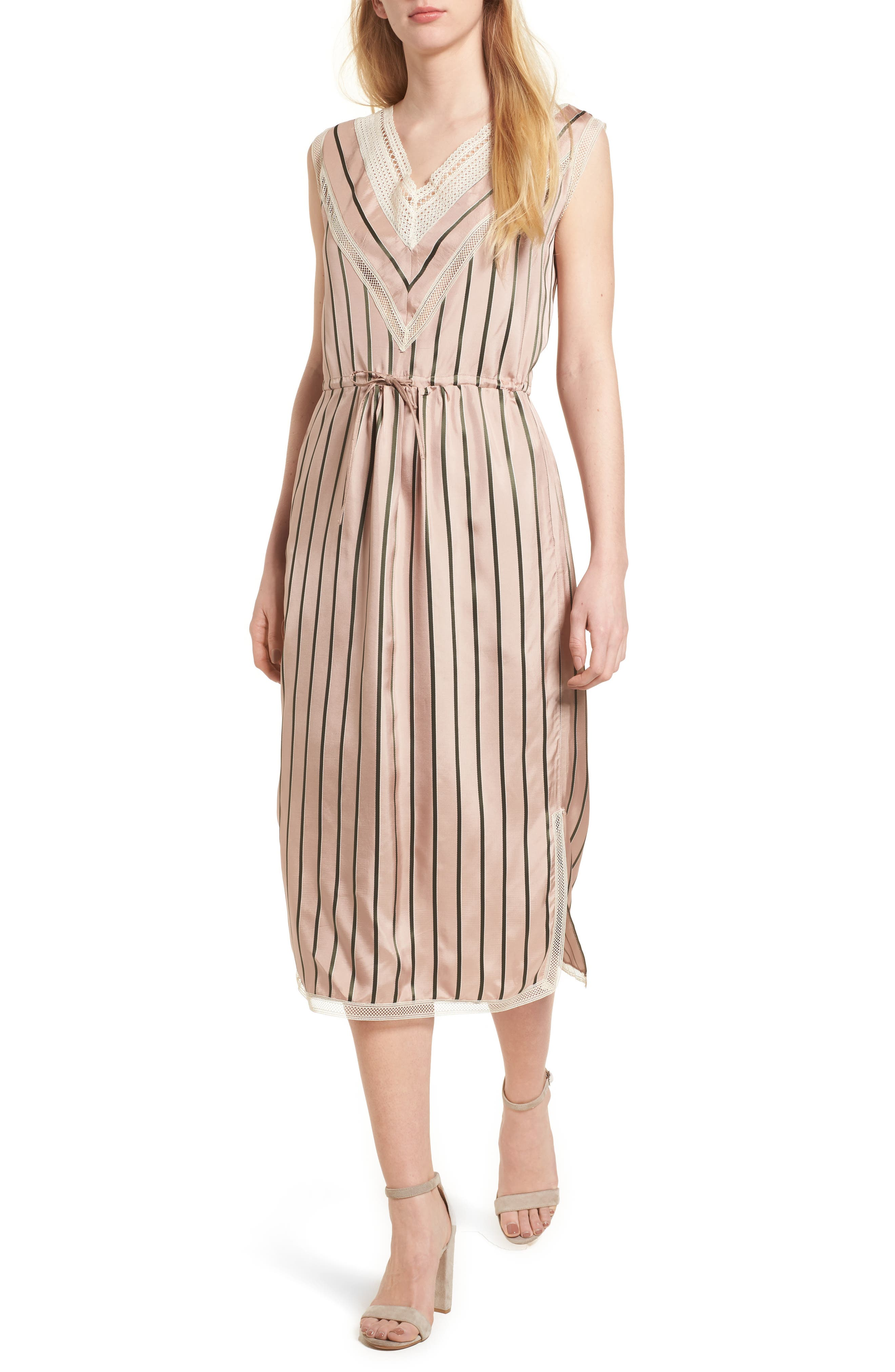 Cosway Dress,                         Main,                         color, Salmon