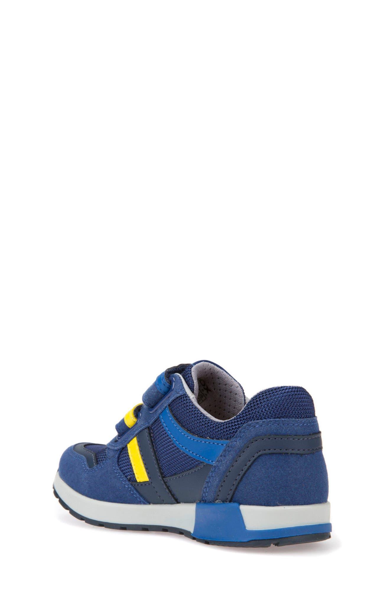 Alfier Stripe Low Top Sneaker,                             Alternate thumbnail 2, color,                             Blue/ Yellow