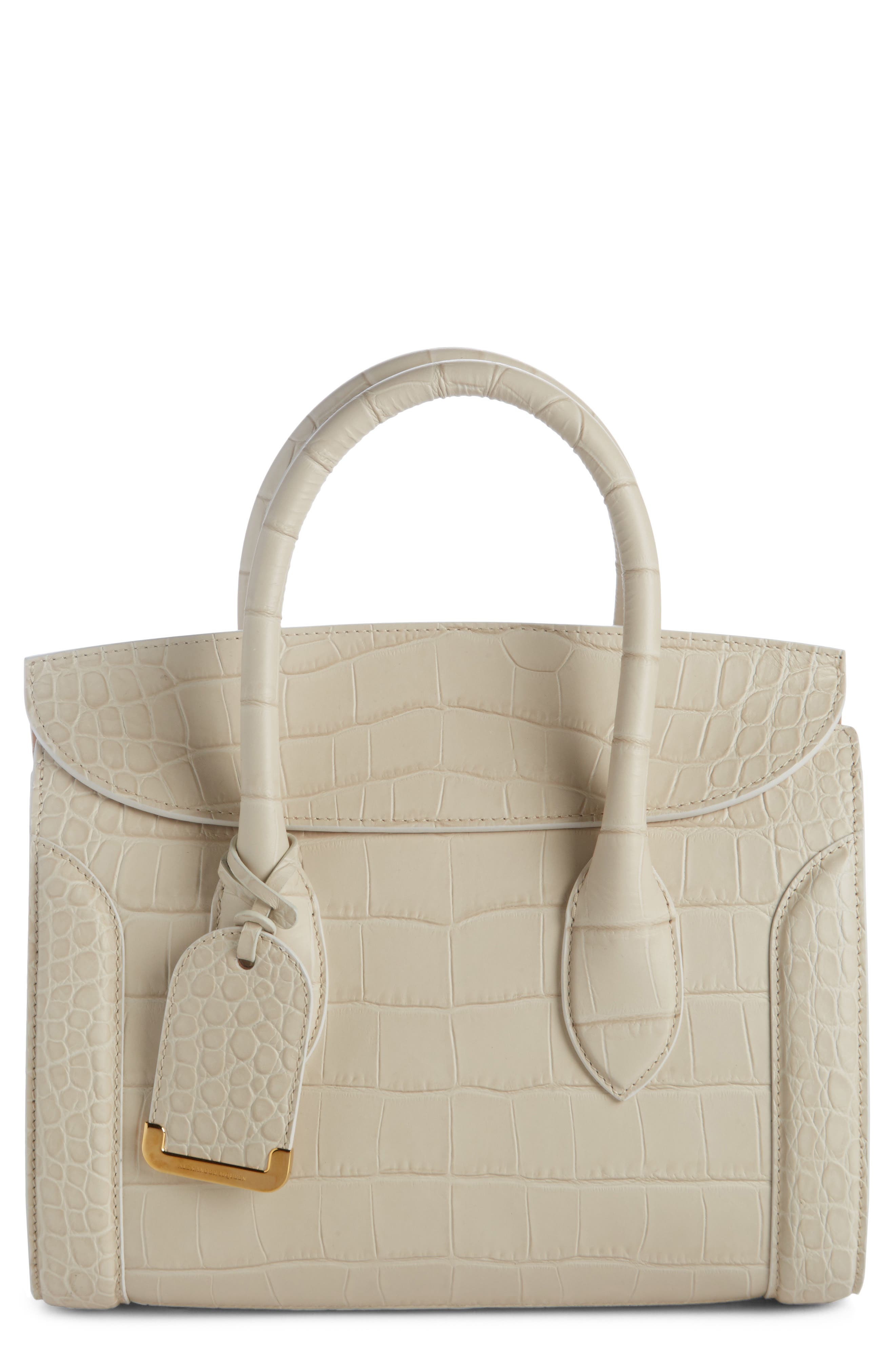Heroine 30 Leather Satchel,                         Main,                         color, White Bone