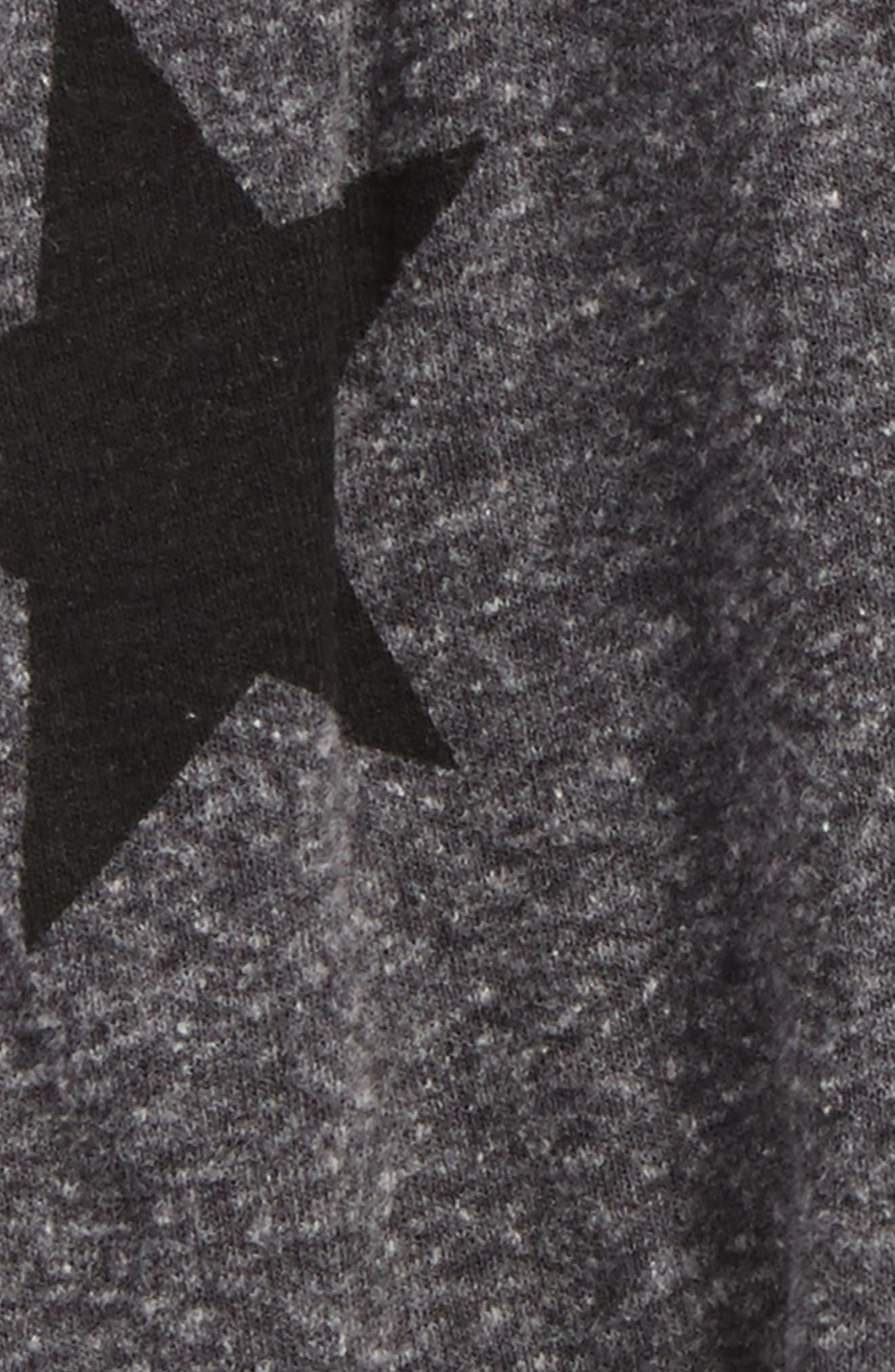 Star Print Baggy Pants,                             Alternate thumbnail 2, color,                             Charcoal