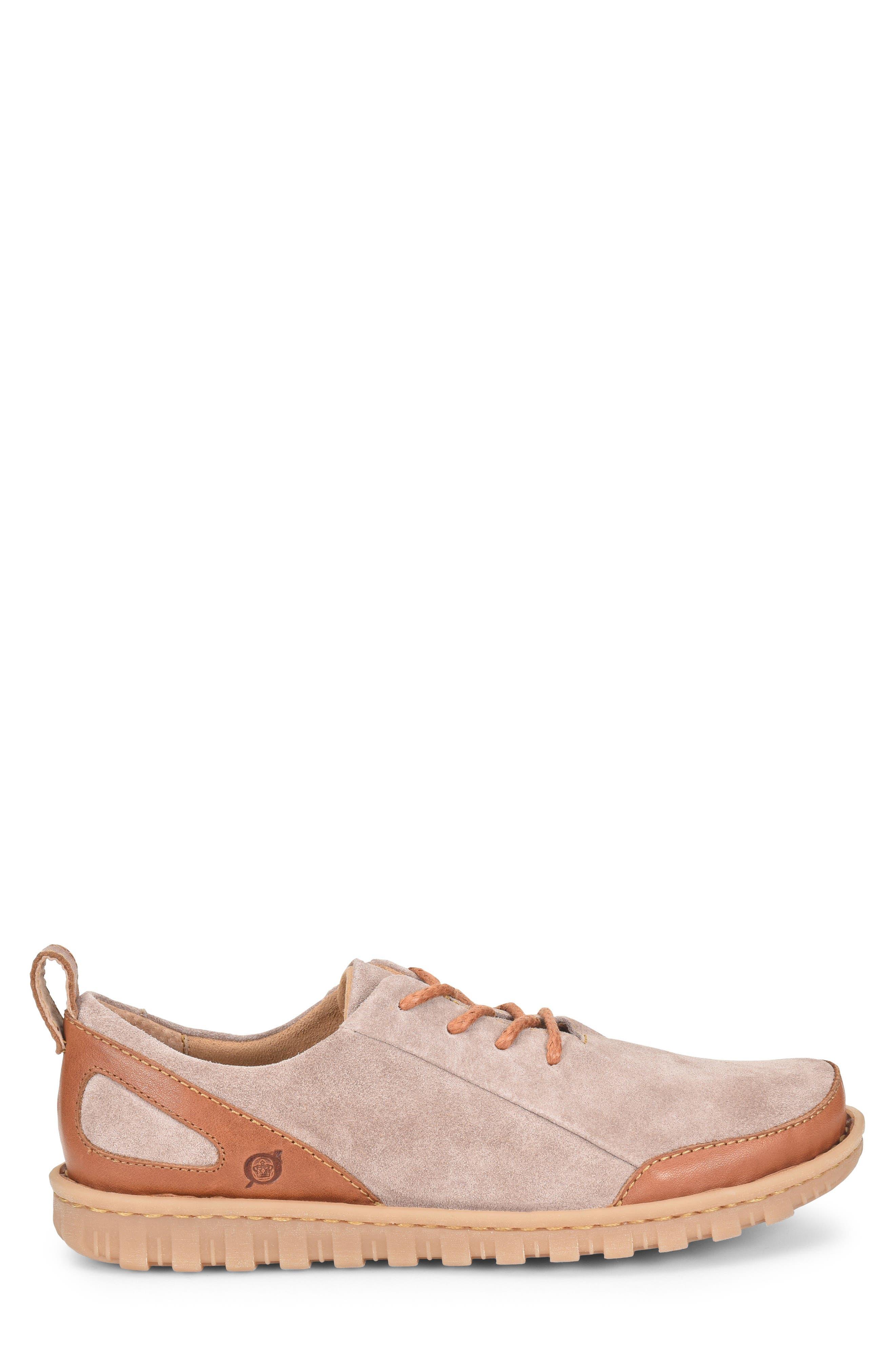 Piper Plain Toe Derby,                             Alternate thumbnail 3, color,                             Grey/ Bronze Leather