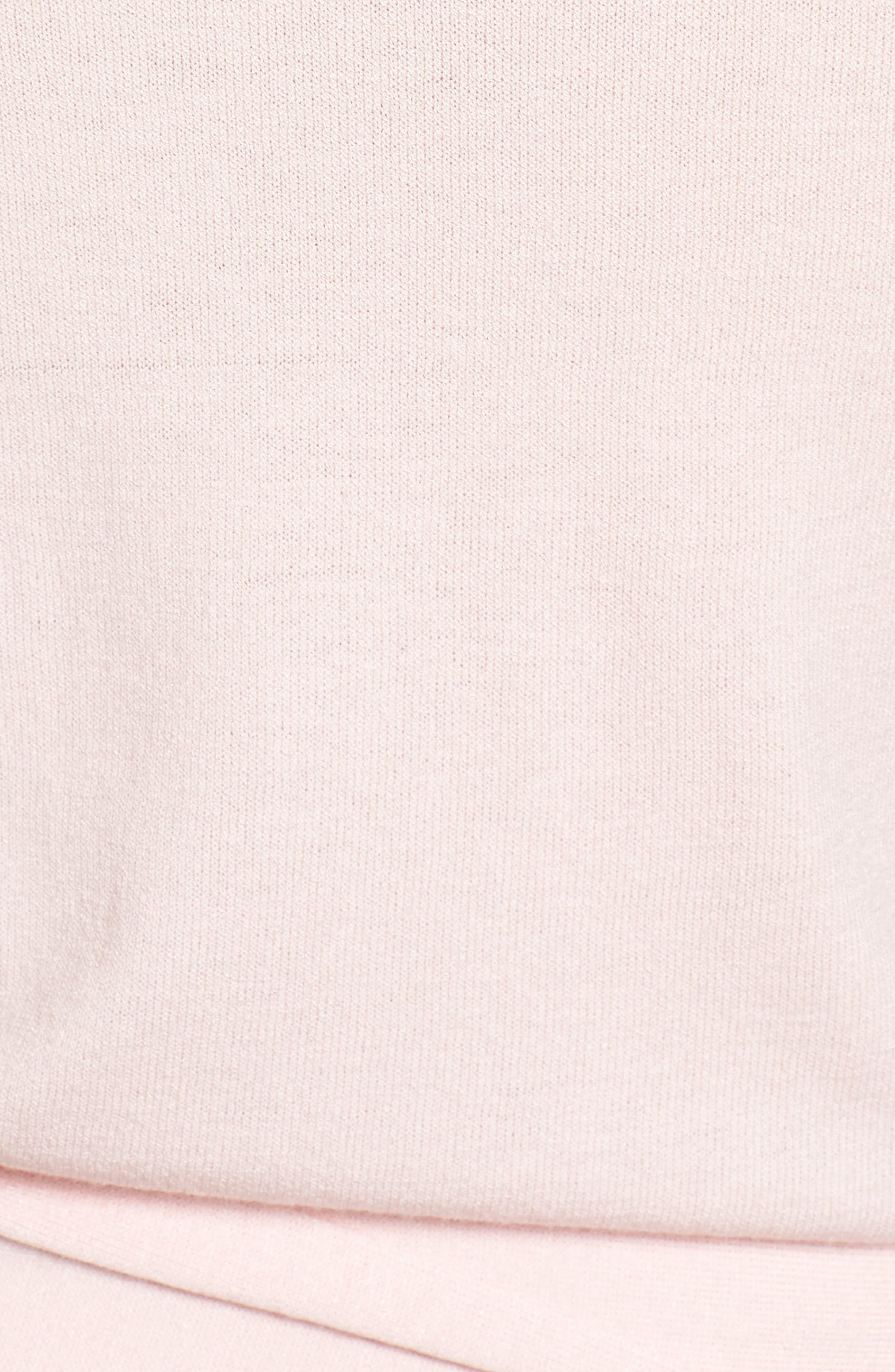 Wrap Sweater,                             Alternate thumbnail 6, color,                             Pink Potpourri