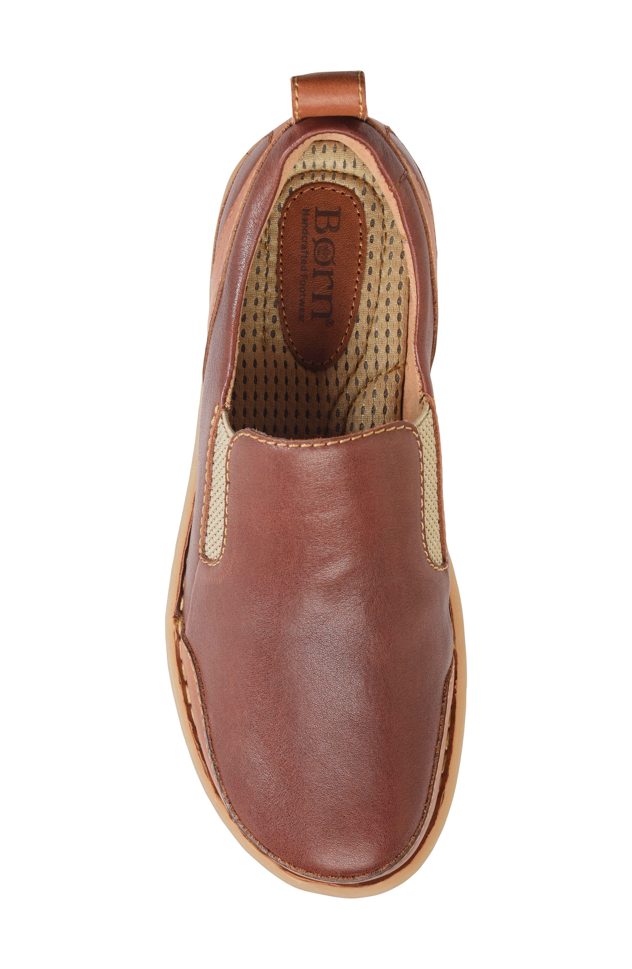 Pepper Slip-On,                             Alternate thumbnail 5, color,                             Brown/ Rust Leather
