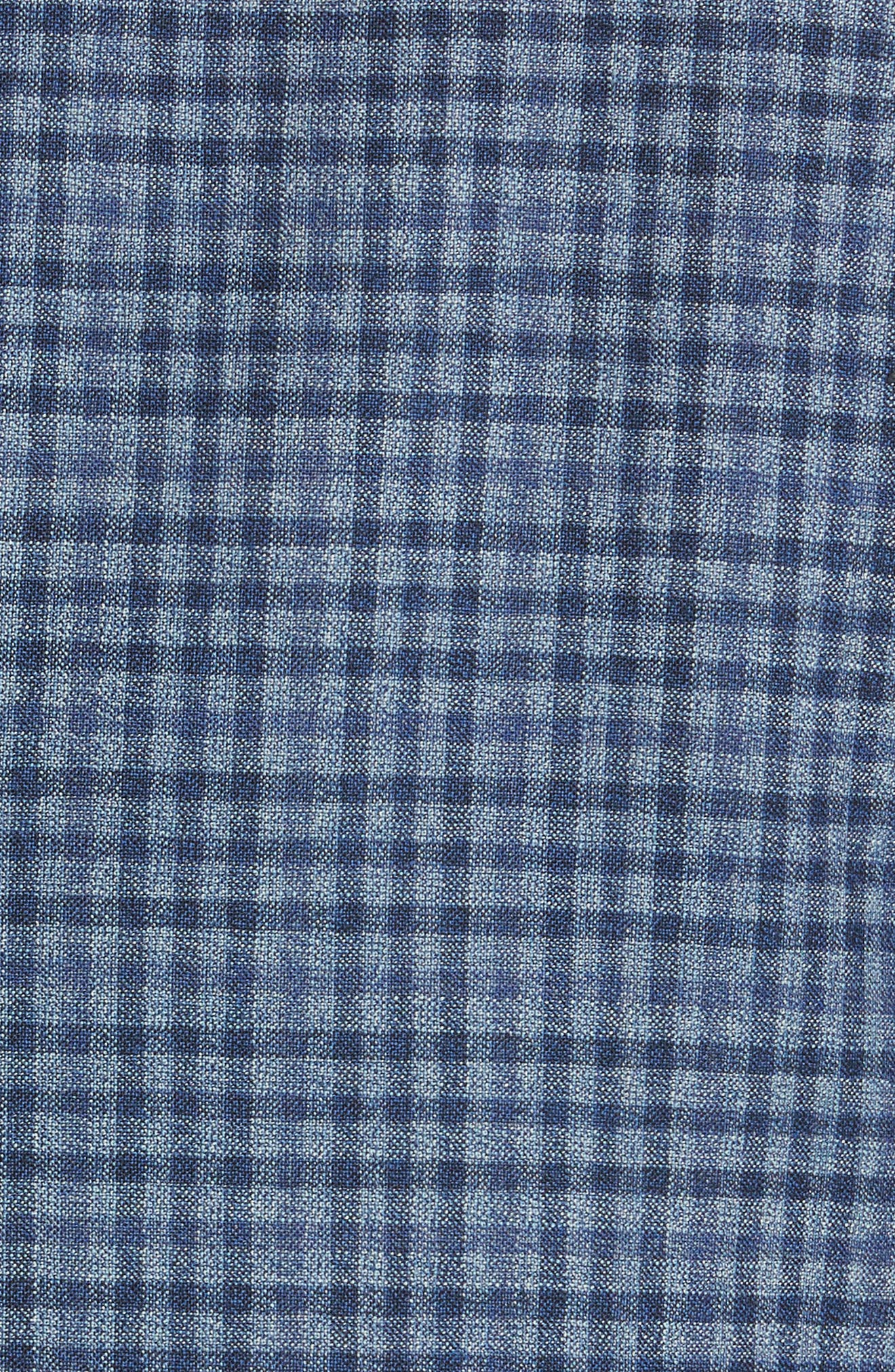 Classic Fit Check Wool Sport Coat,                             Alternate thumbnail 5, color,                             Blue