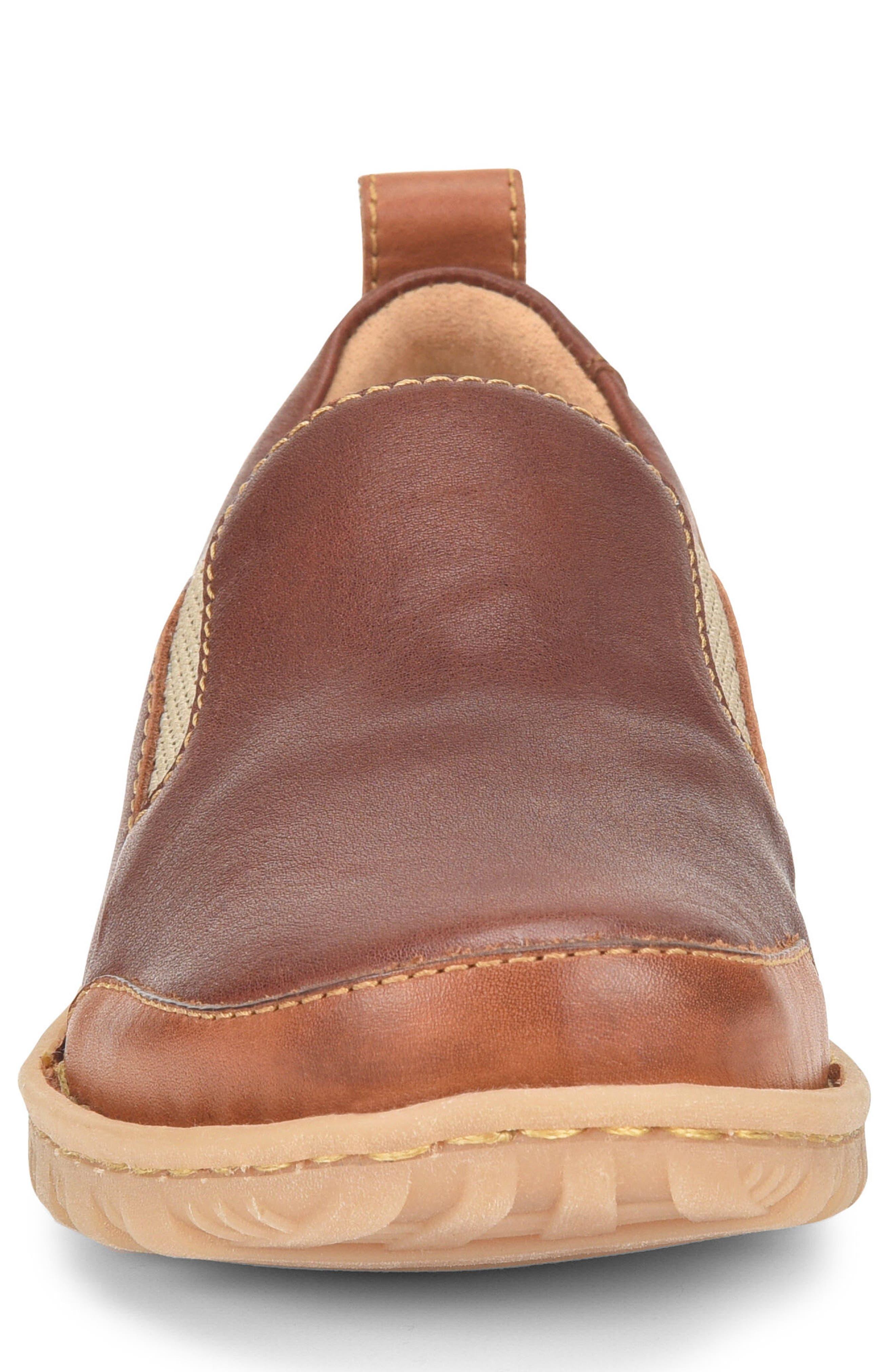 Pepper Slip-On,                             Alternate thumbnail 3, color,                             Brown/ Rust Leather
