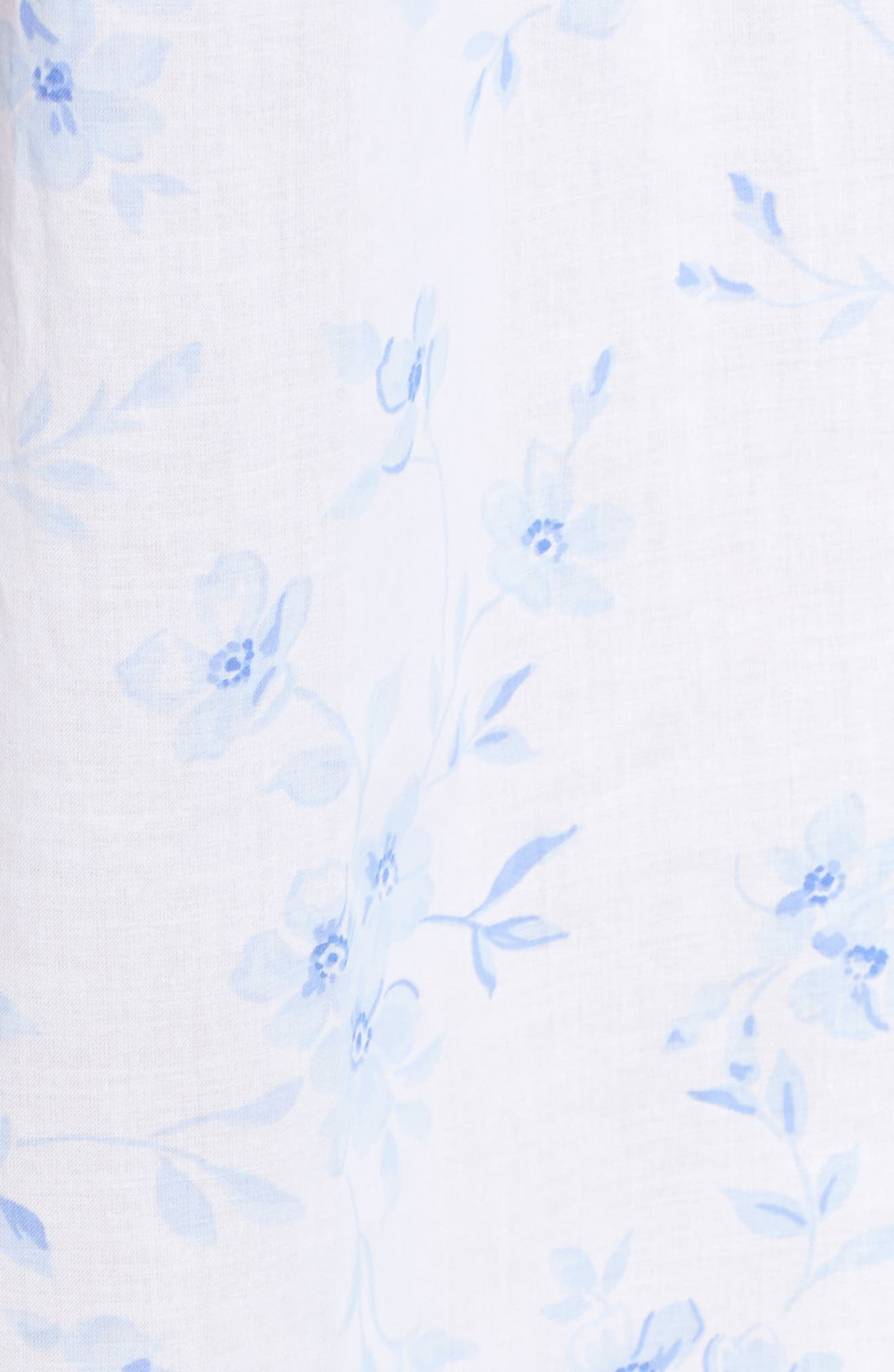 Cotton Lawn Ballet Nightgown,                             Alternate thumbnail 6, color,                             White Mono Floral