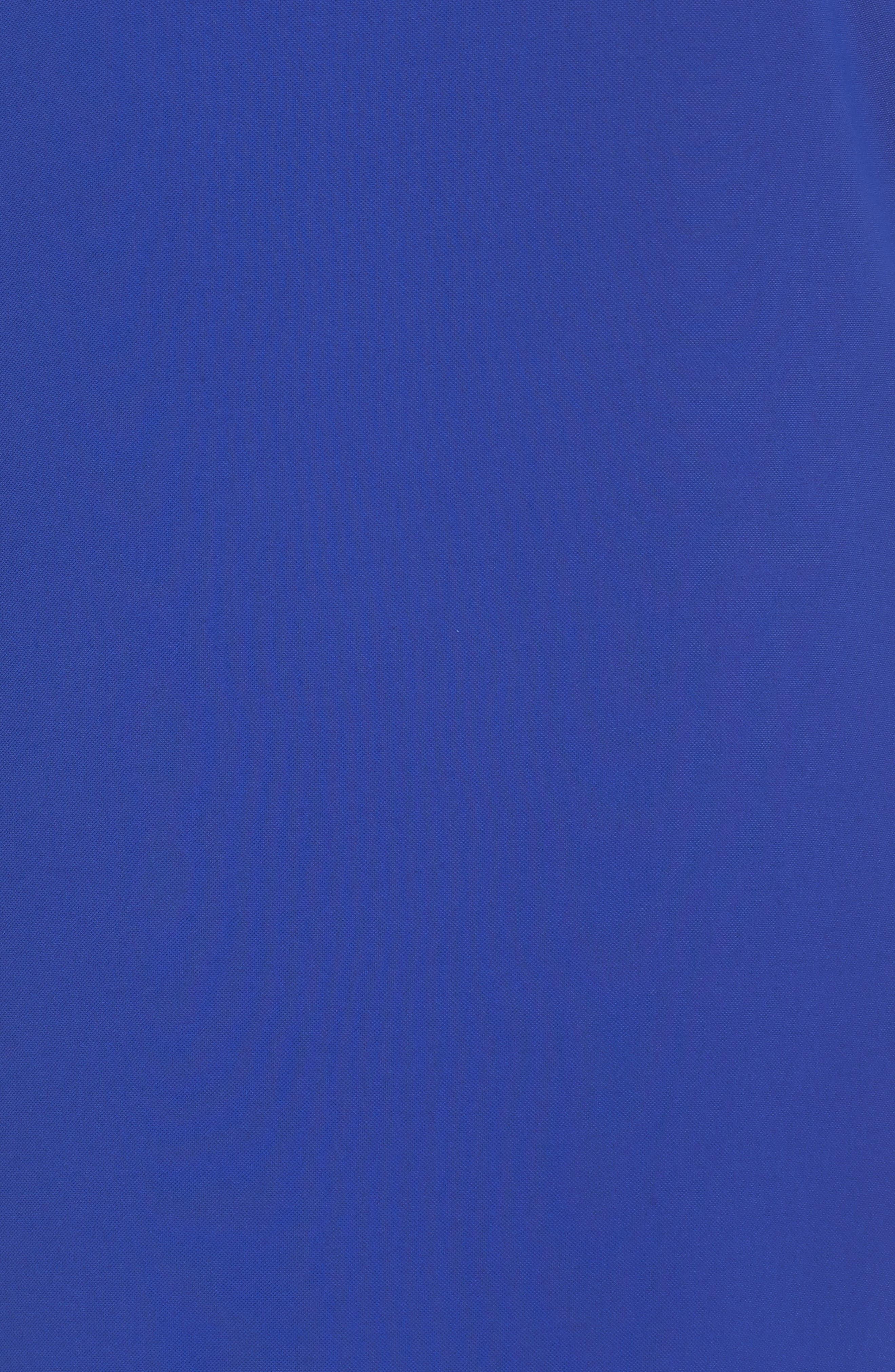 Ruffle Sleeve Crepe Shift Dress,                             Alternate thumbnail 5, color,                             Cool Violet