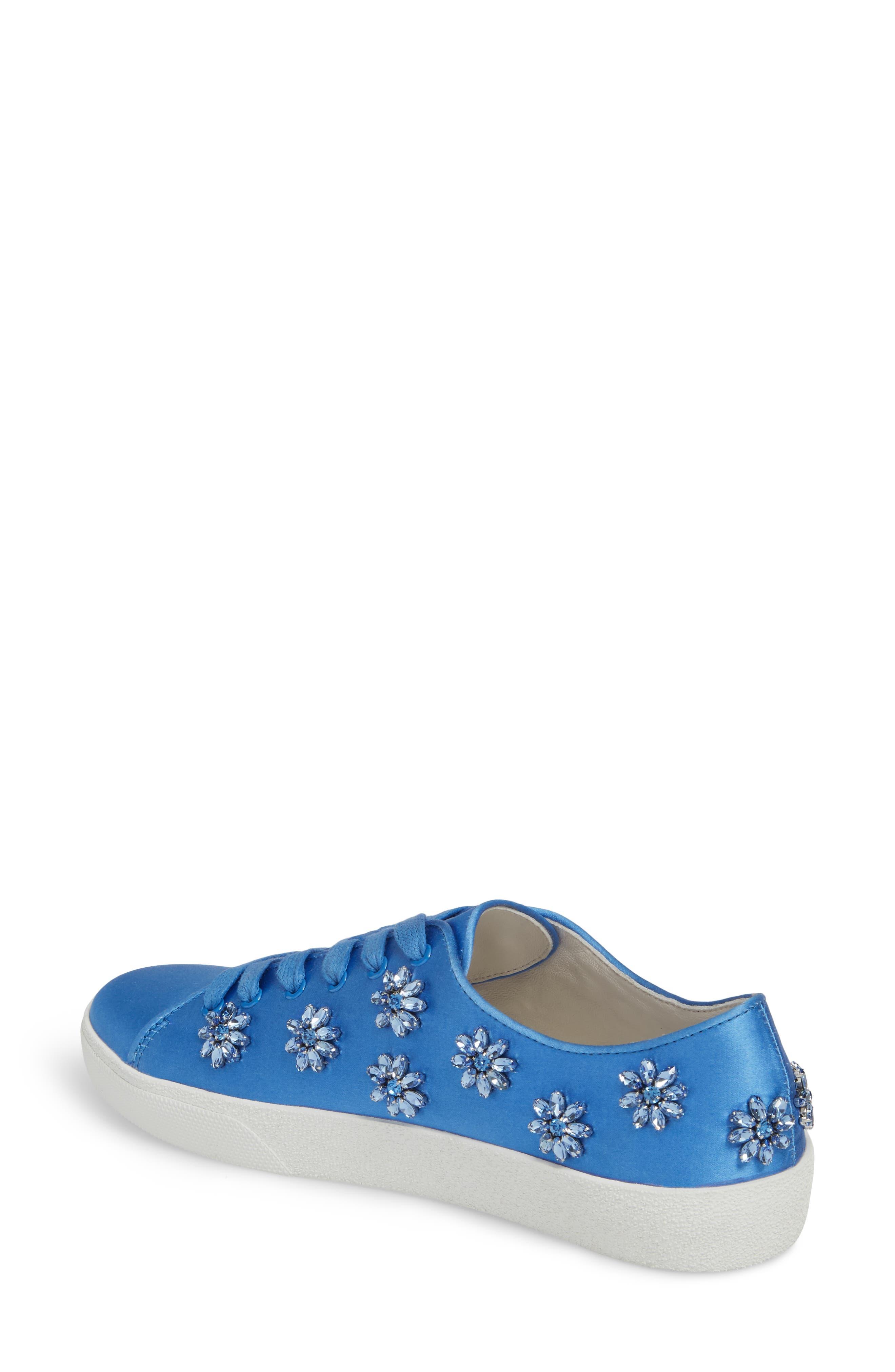 Cleo Crystal Embellished Sneaker,                             Alternate thumbnail 2, color,                             Cerulean