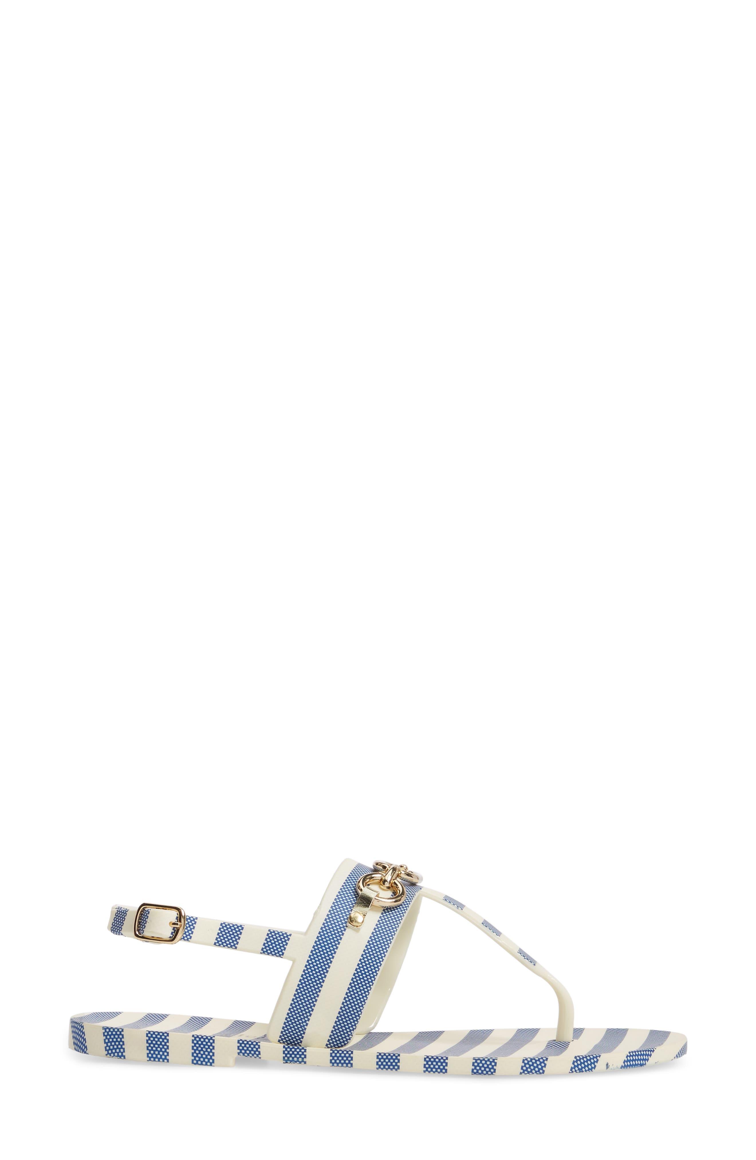 polly slingback sandal,                             Alternate thumbnail 3, color,                             Blue/ Cream