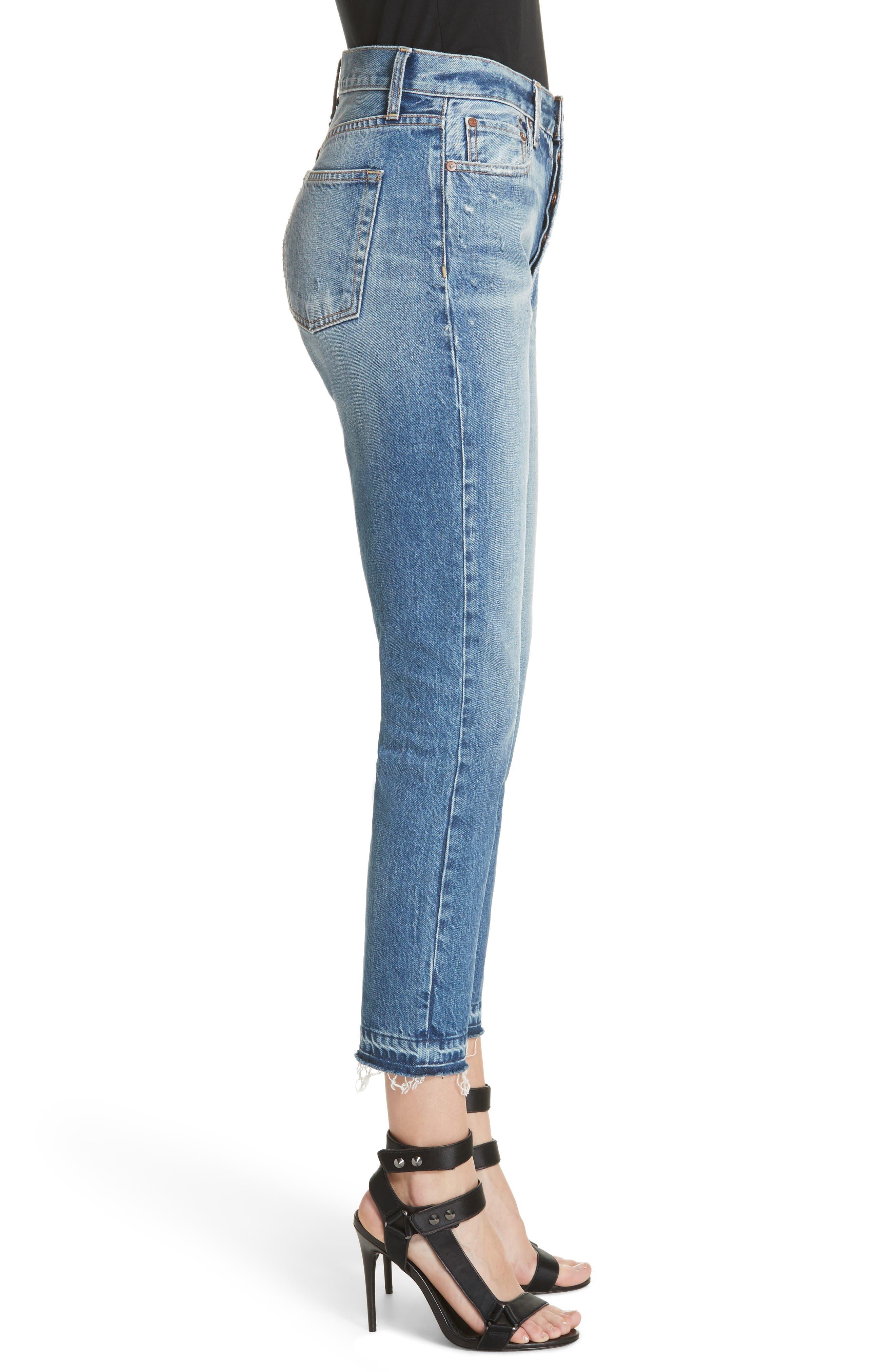 AO.LA Amazing Release Hem Slim Girlfriend Jeans,                             Alternate thumbnail 3, color,                             Best Intentions