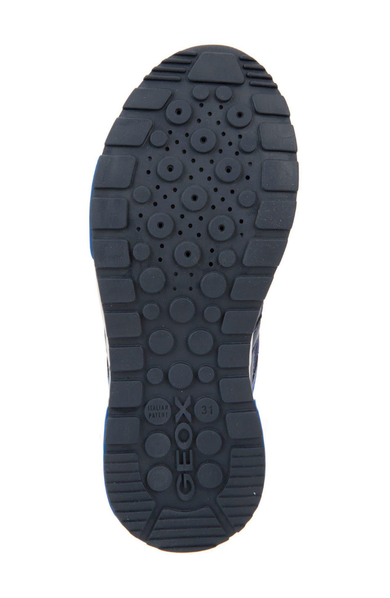 Alfier Stripe Low Top Sneaker,                             Alternate thumbnail 6, color,                             Blue/ Yellow
