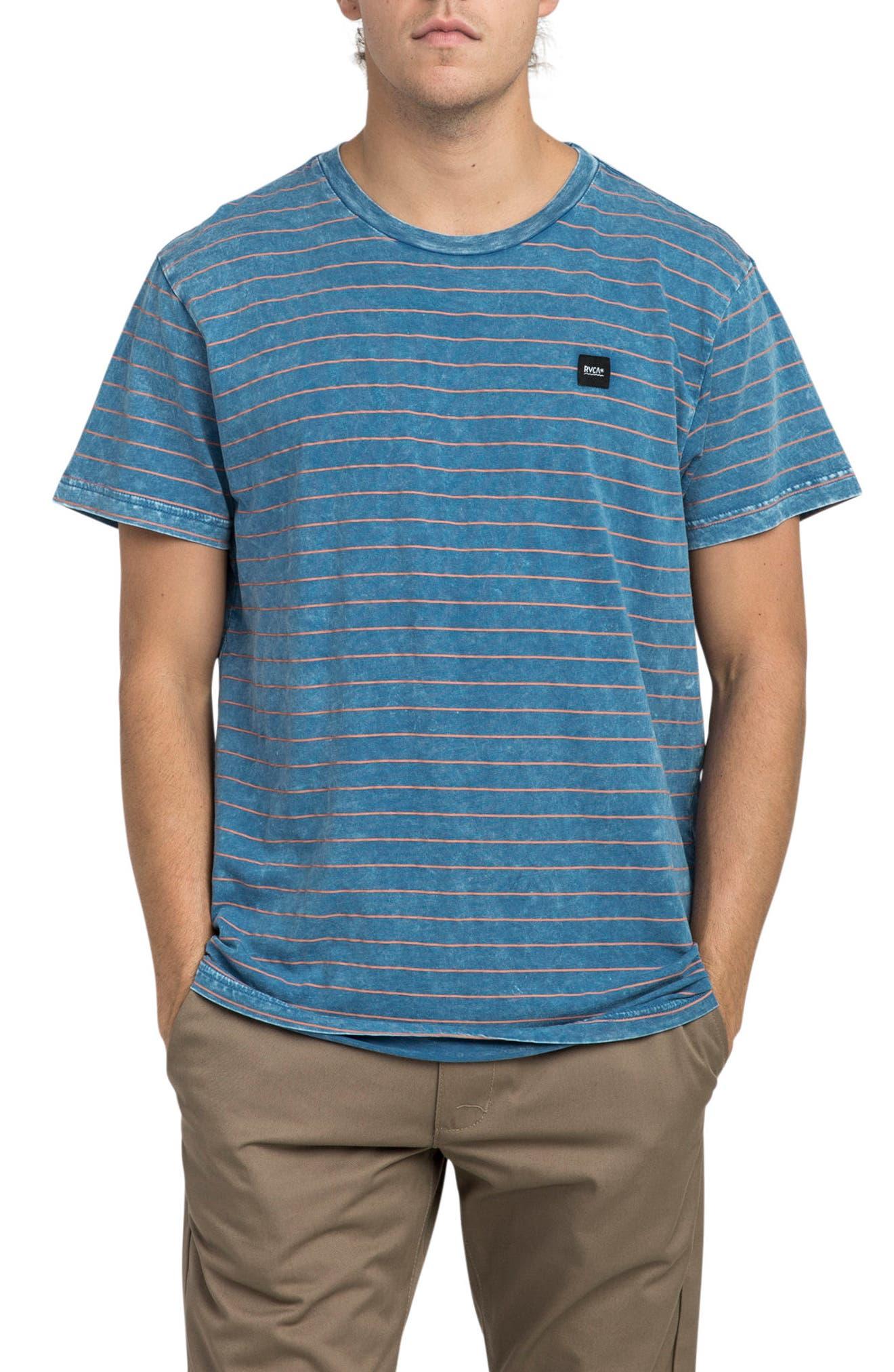 Washout T-Shirt,                         Main,                         color, Cobalt