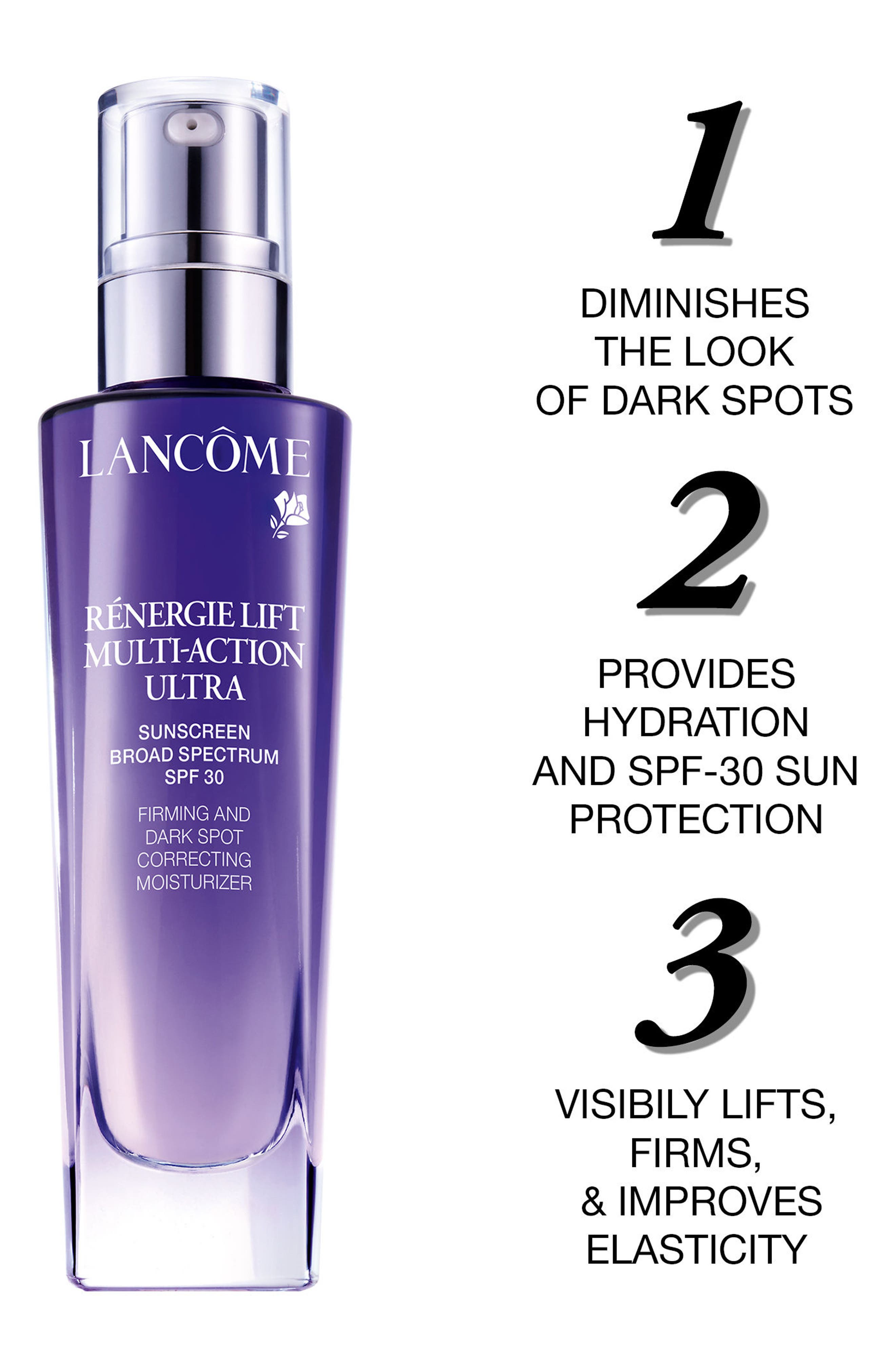 Rénergie Lift Multi-Action Ultra Firming and Dark Spot Correcting Moisturizer SPF 30,                             Alternate thumbnail 3, color,                             No Color