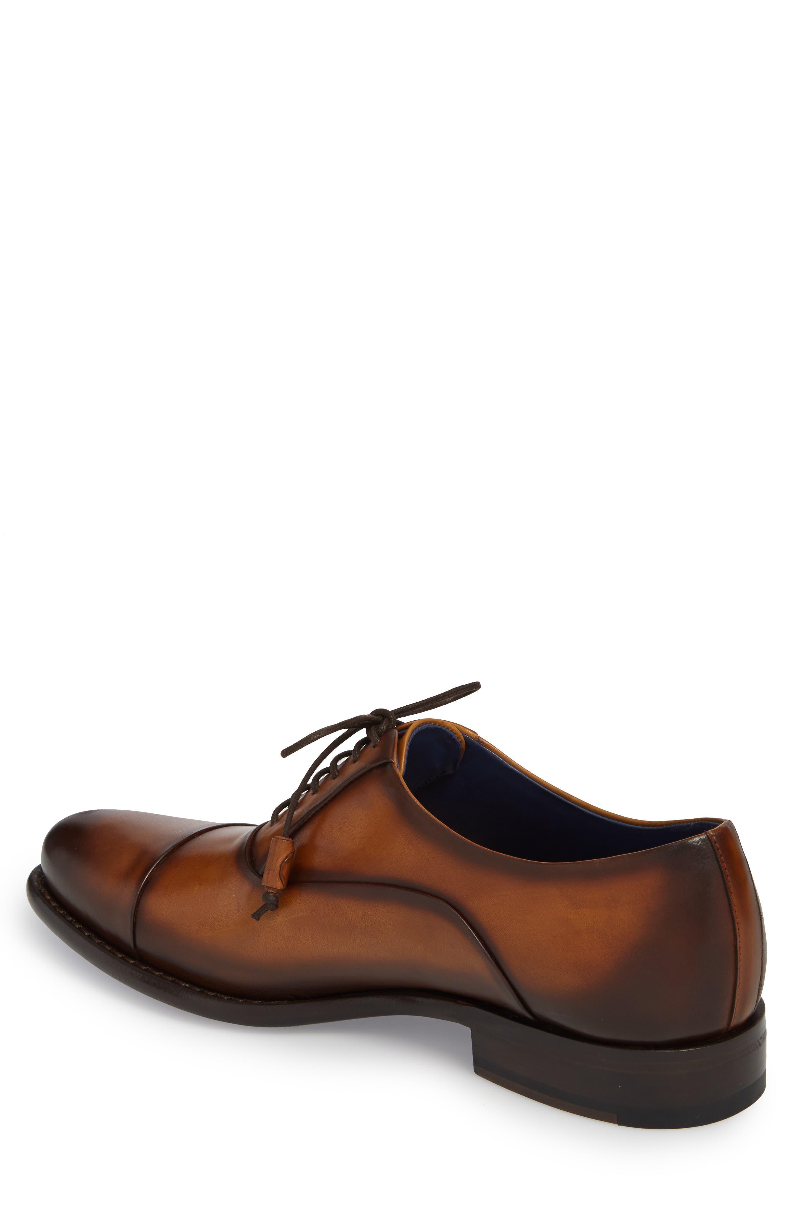 Helios Cap Toe Oxford,                             Alternate thumbnail 2, color,                             Honey Leather