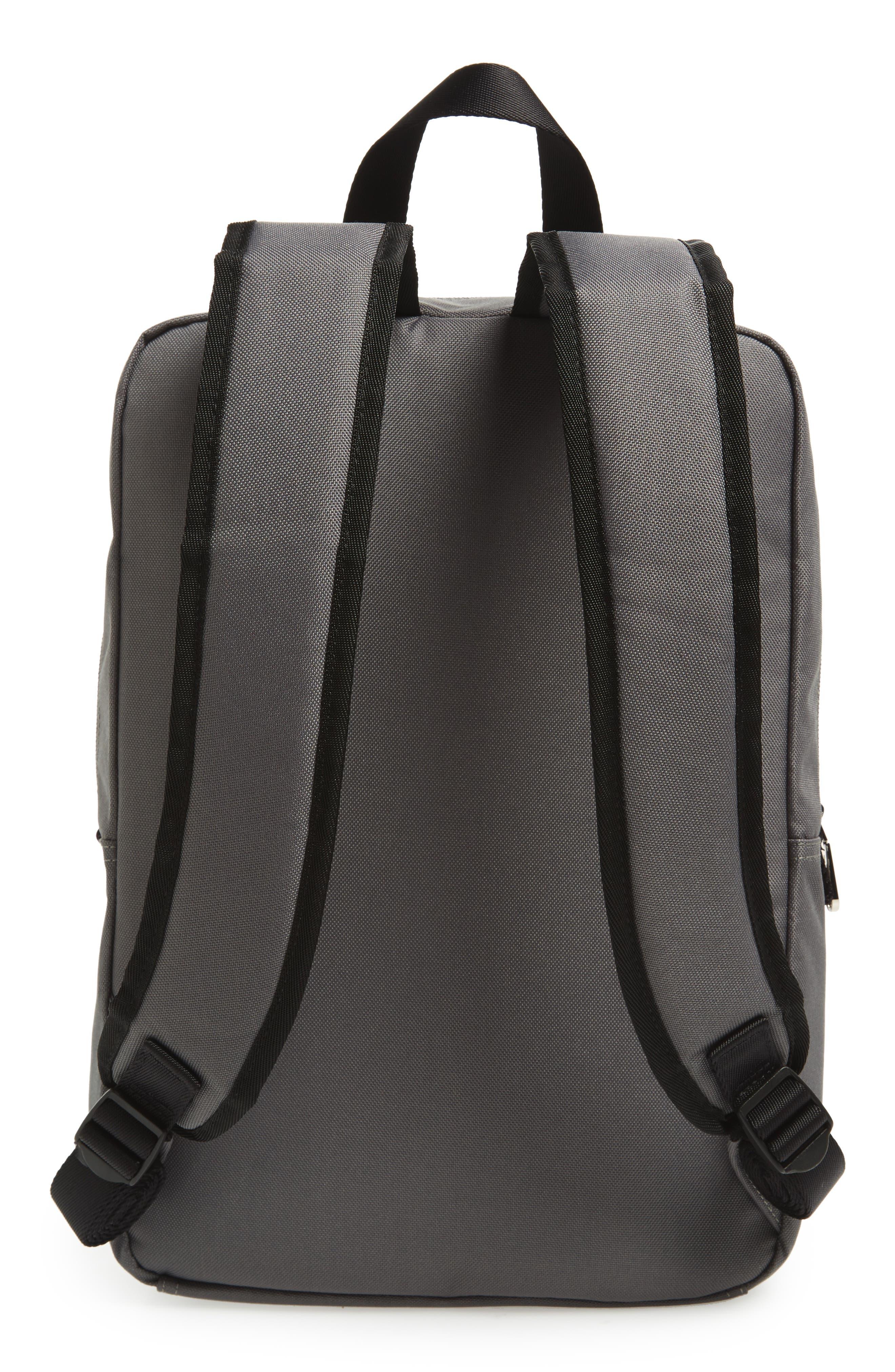 Slim Square Backpack,                             Alternate thumbnail 3, color,                             Charcoal