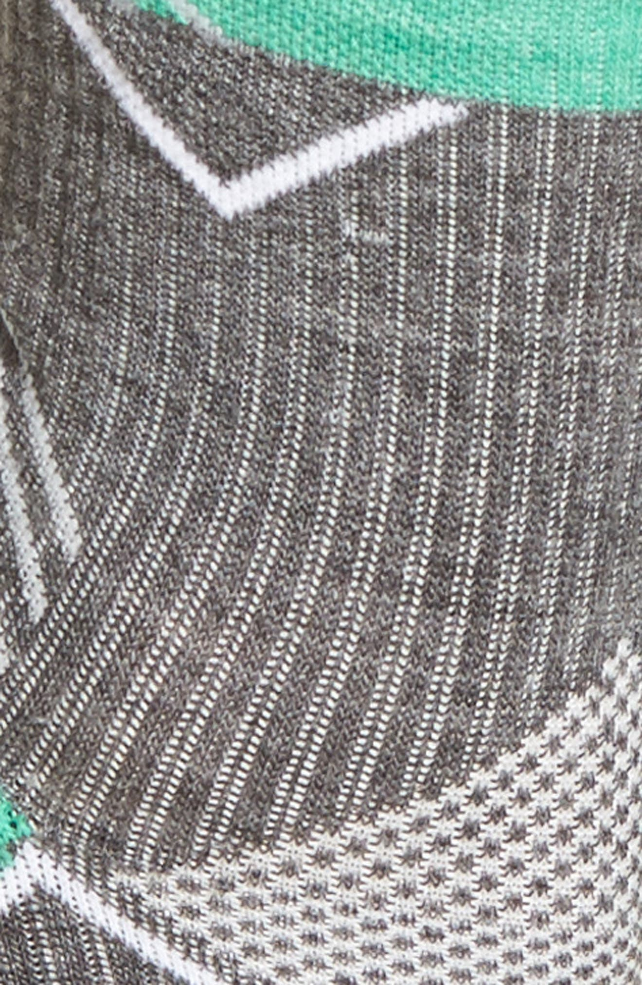Quarter Socks,                             Alternate thumbnail 2, color,                             Charcoal