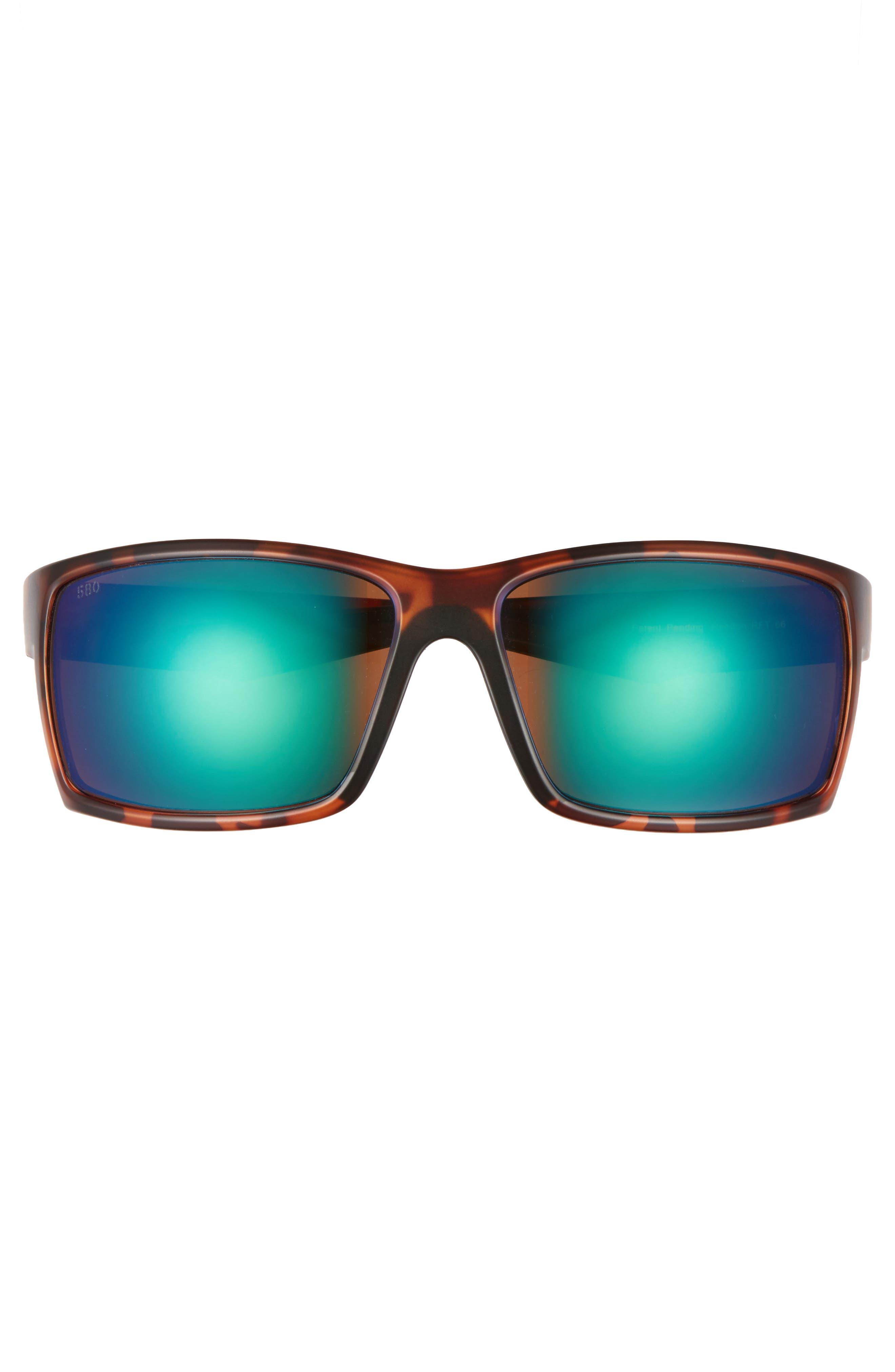 Reefton 65mm Polarized Sunglasses,                             Alternate thumbnail 2, color,                             Tortoise/ Green Mirror