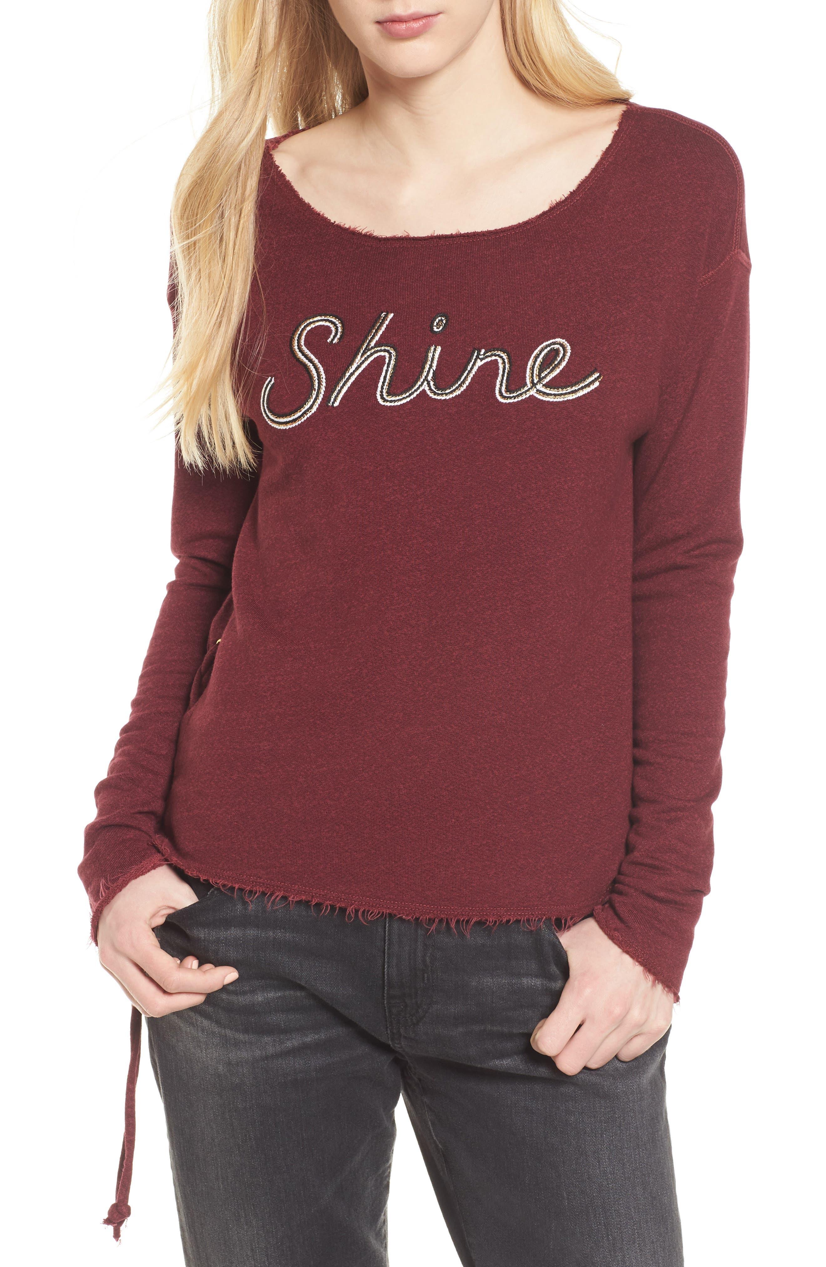 Sundry Shine Lace-Up Sweatshirt