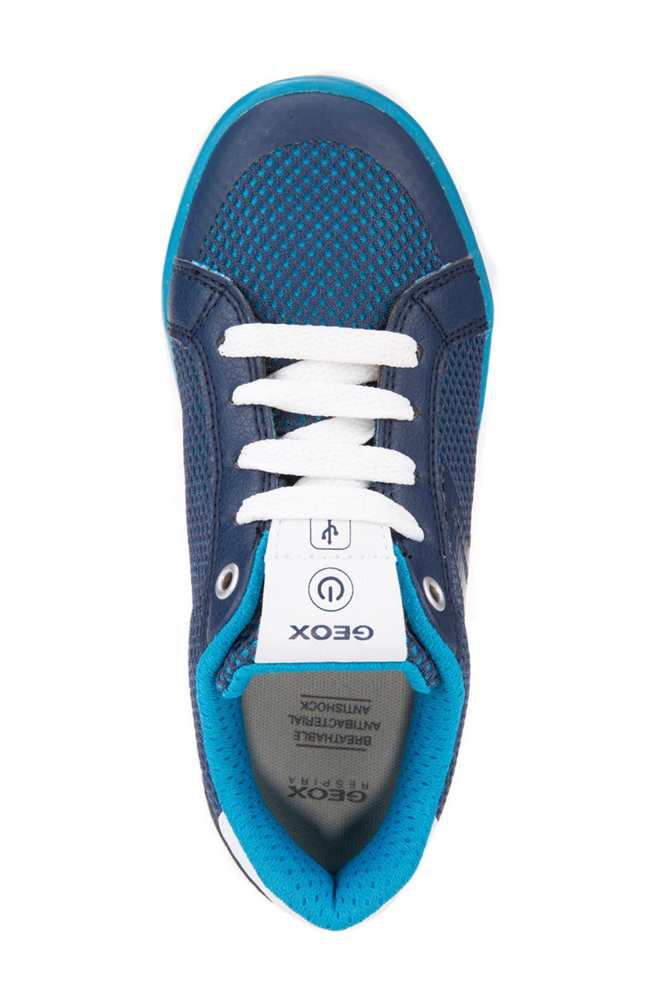 Kommodor Light-Up Mesh Sneaker,                             Alternate thumbnail 5, color,                             Navy/ Light Blue