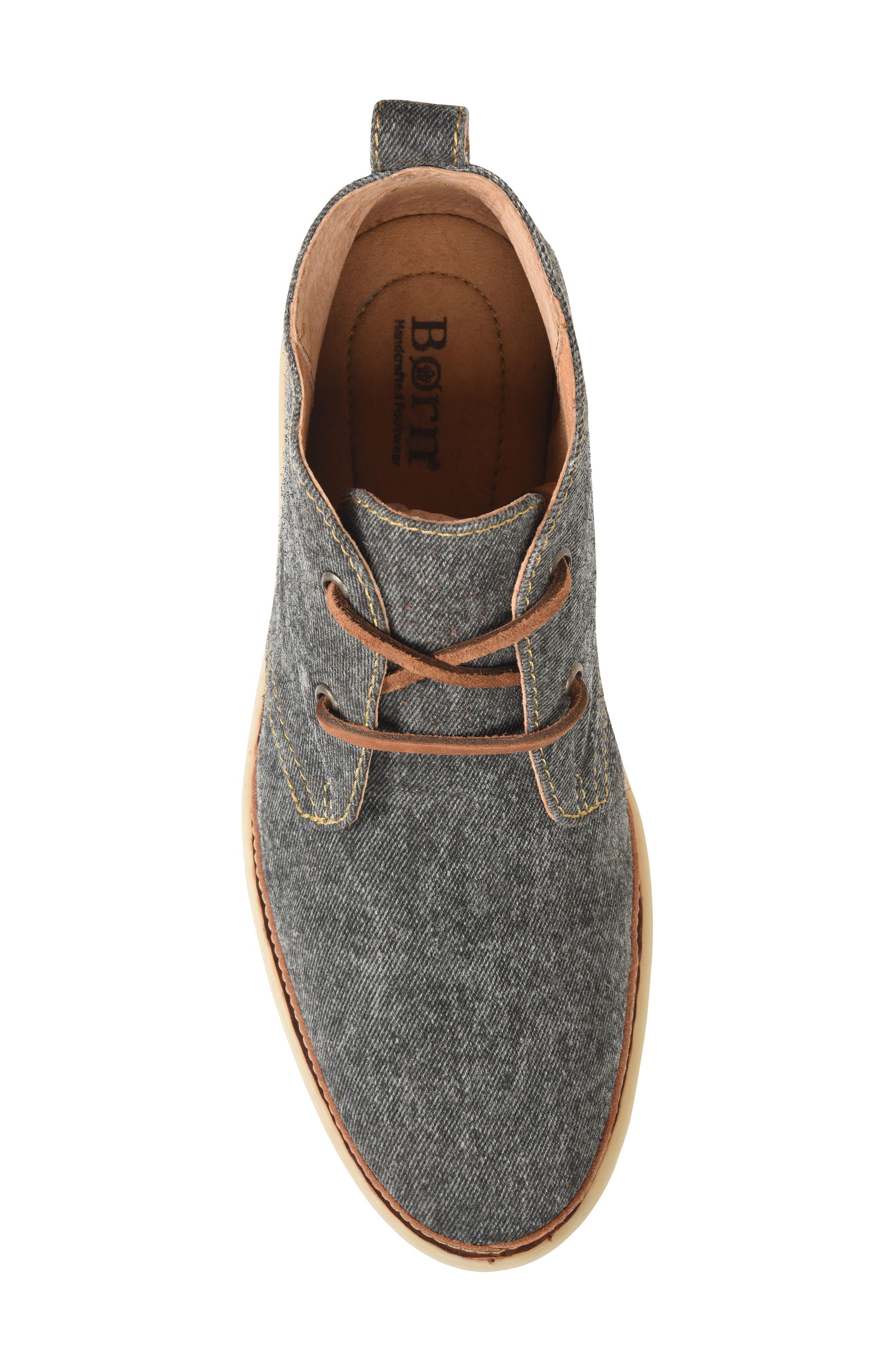 Elk II Chukka Boot,                             Alternate thumbnail 5, color,                             Dark Grey Fabric