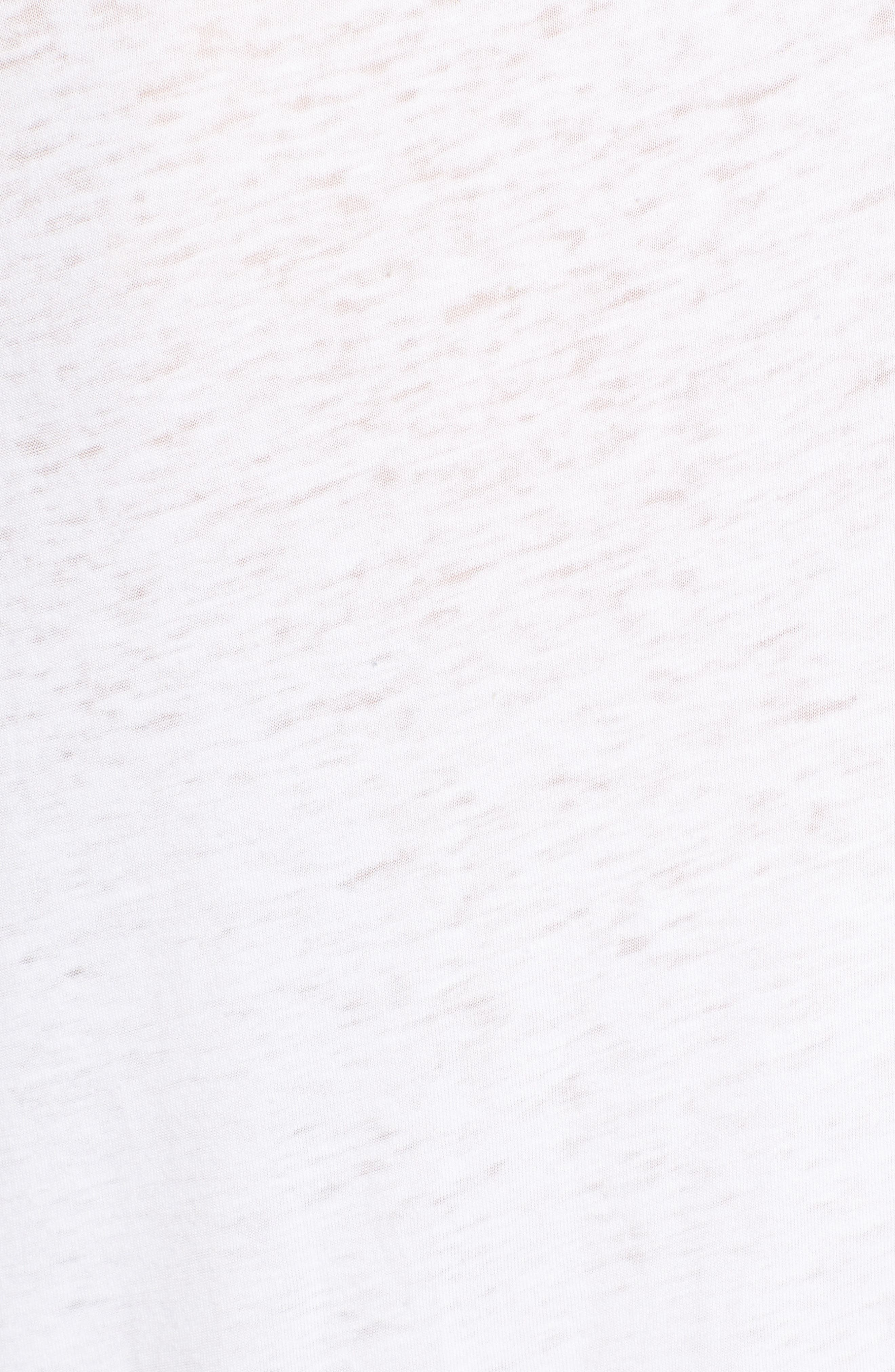 Half Sleeve Baseball Tee,                             Alternate thumbnail 5, color,                             White Navy Blazer Combo